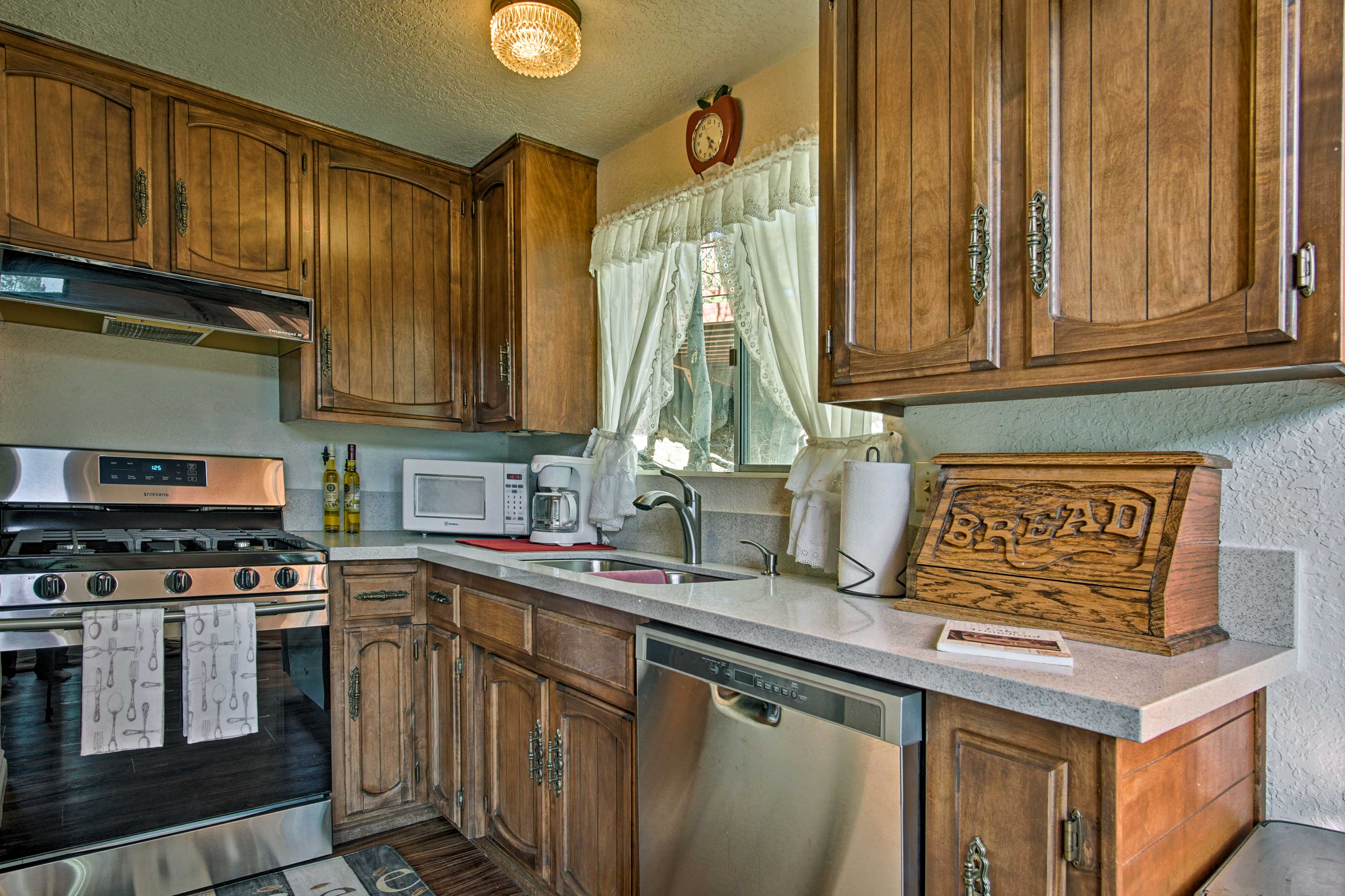 Whip up all your favorite recipes in the fully equipped kitchen.