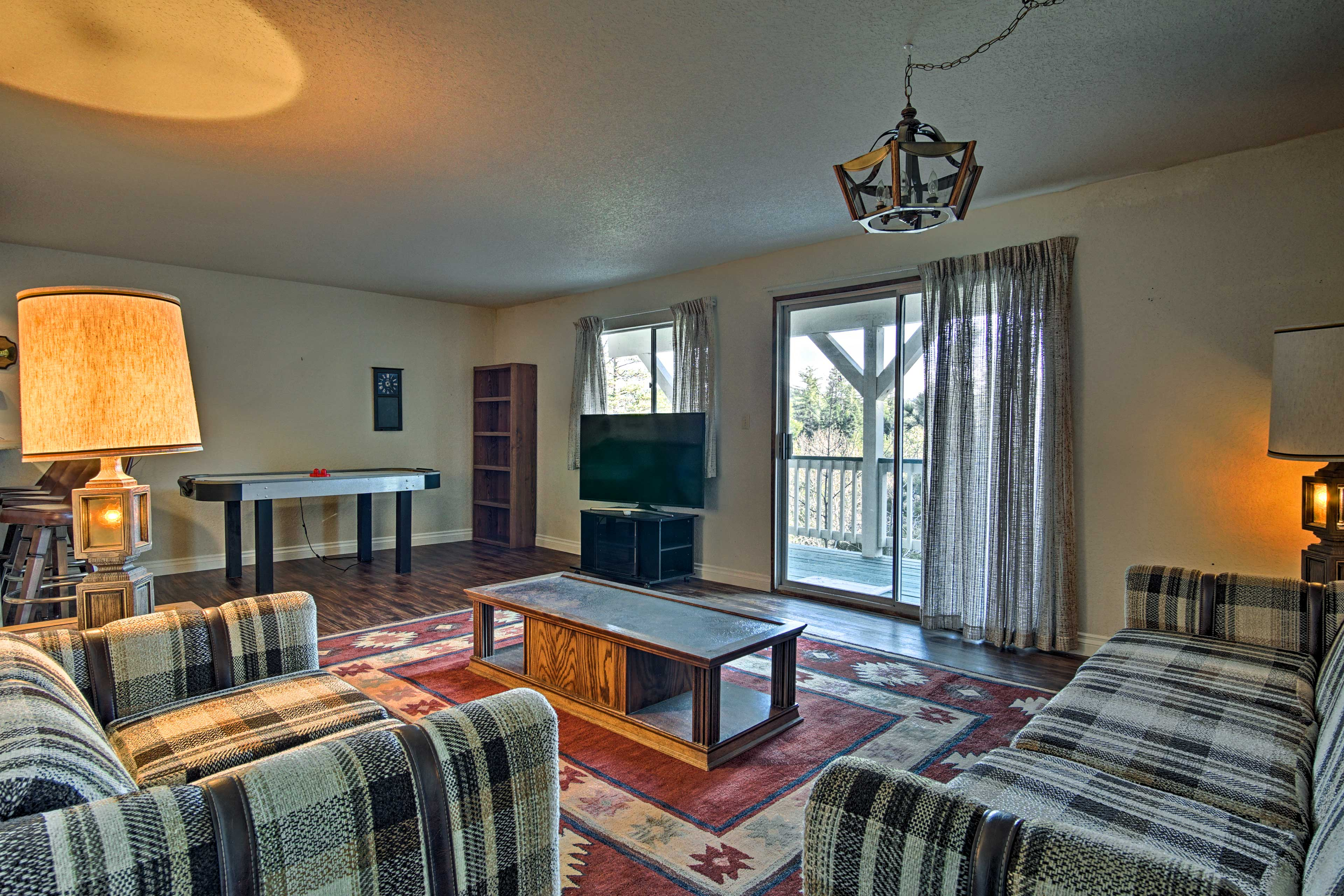 Head downstairs for movie night on the flat-screen SmartTV.