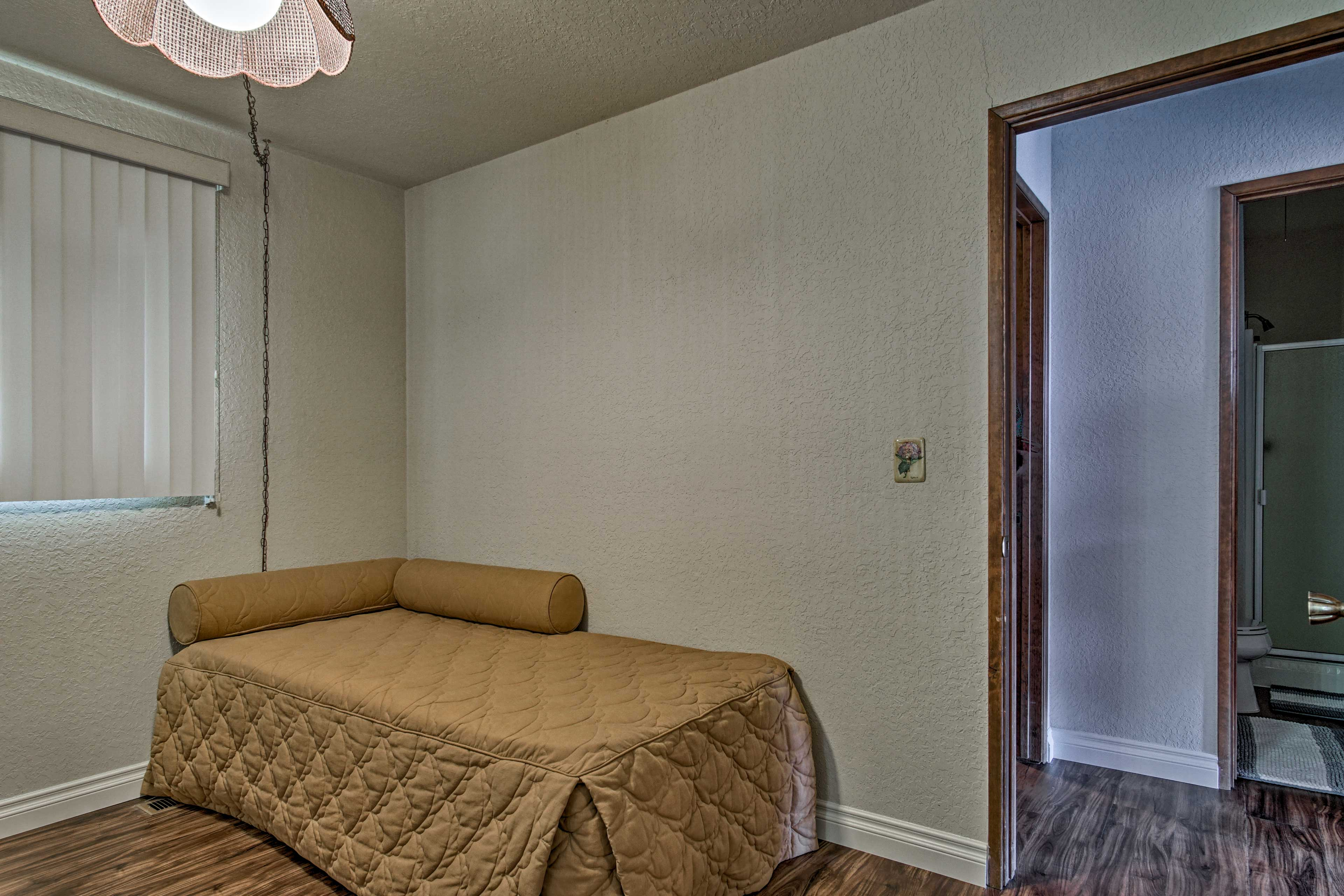 Two guests can use the day bed and trundle pullout.