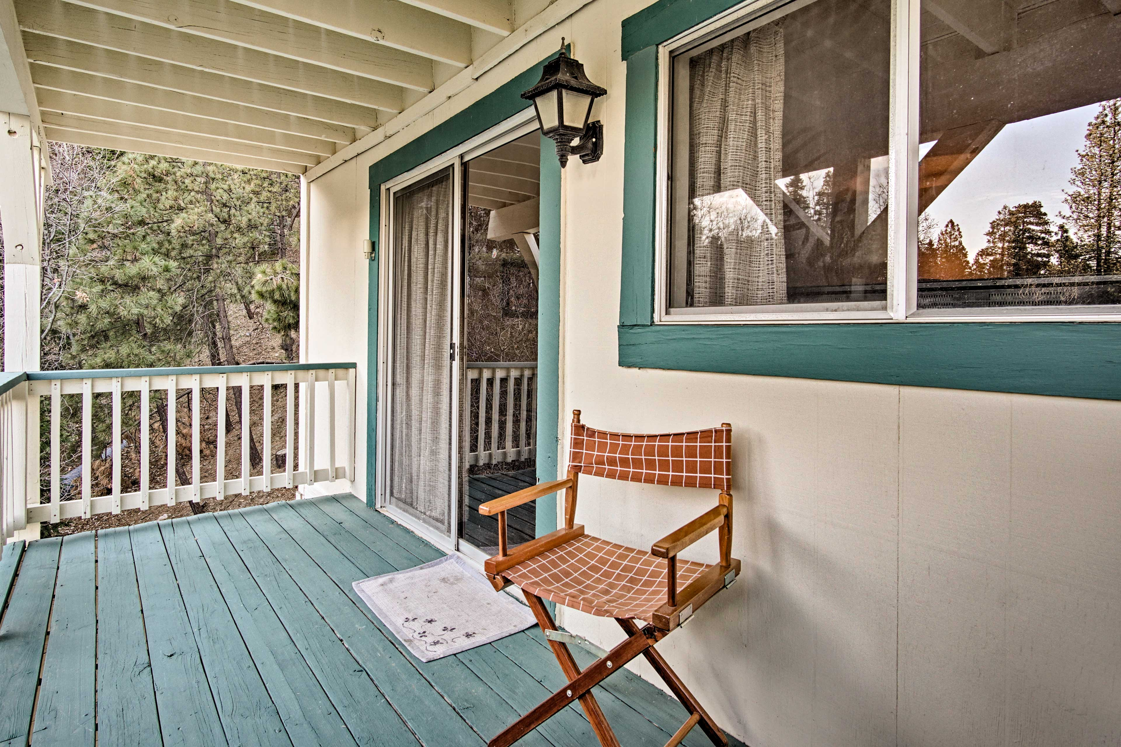 Step out to the balcony with your morning coffee.