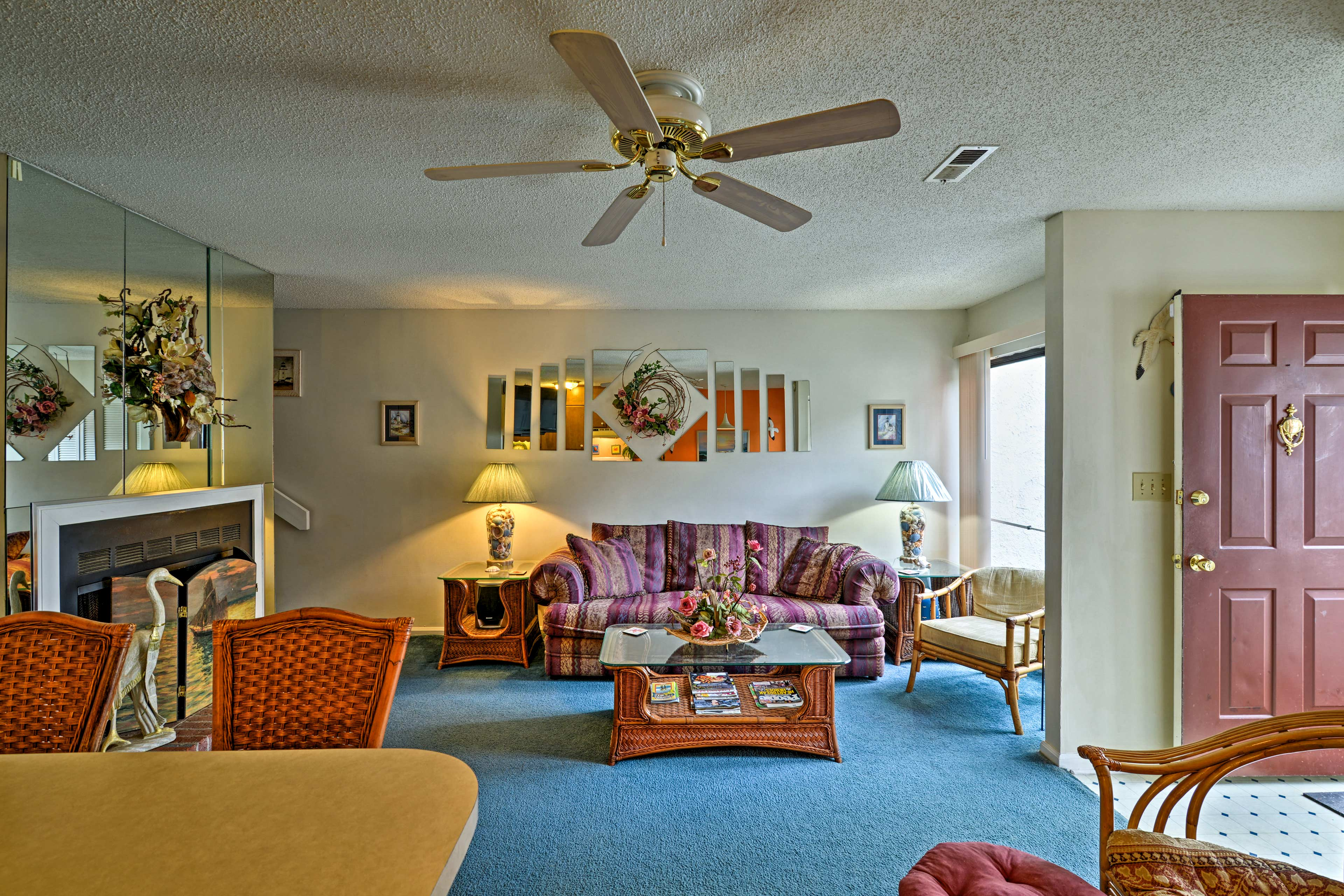 Up to 6 guests can make themselves at home in 1,200 square feet of living space.