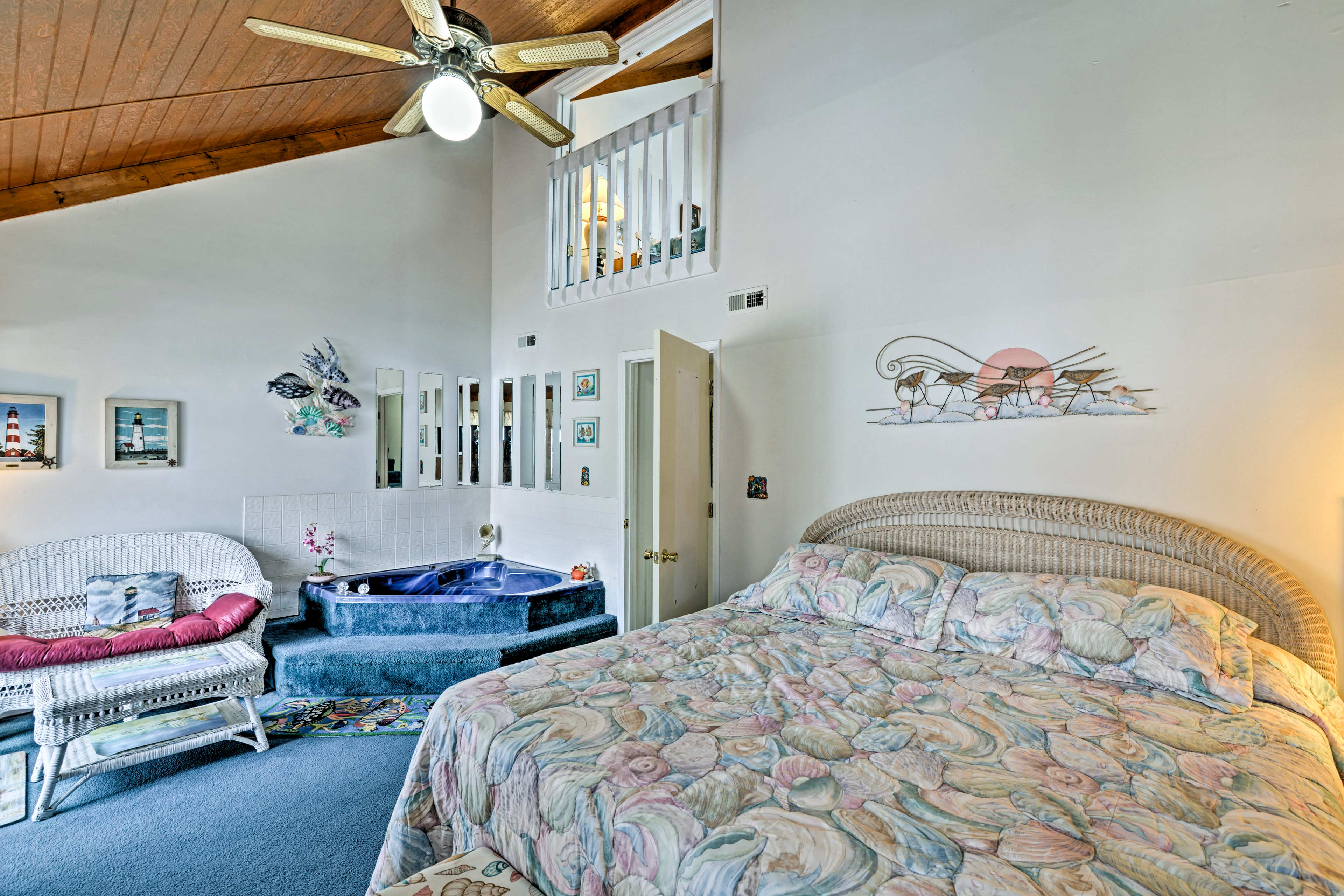 The master bedroom offers a cloud-like king bed.