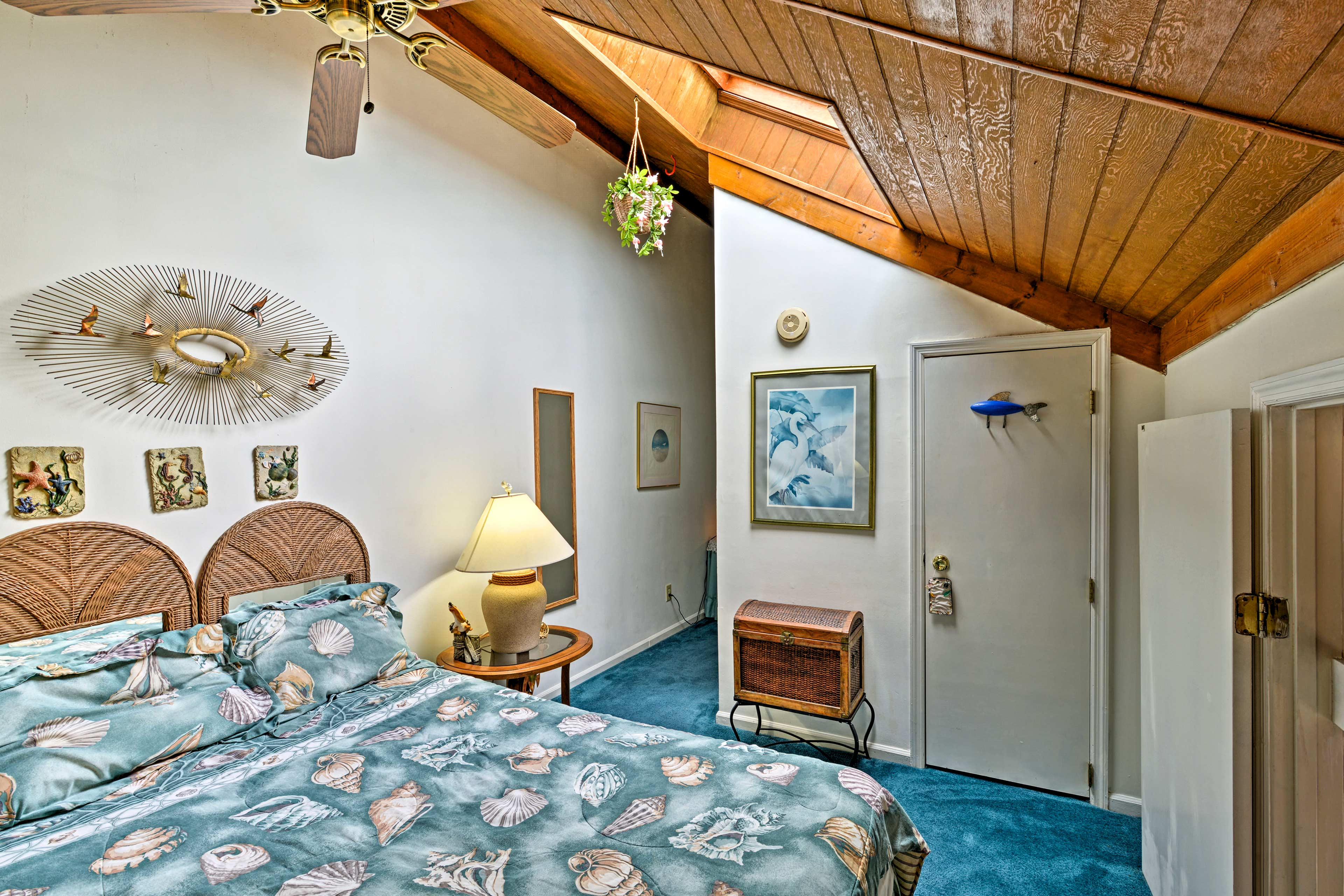 The second bedroom boasts a cozy full bed.