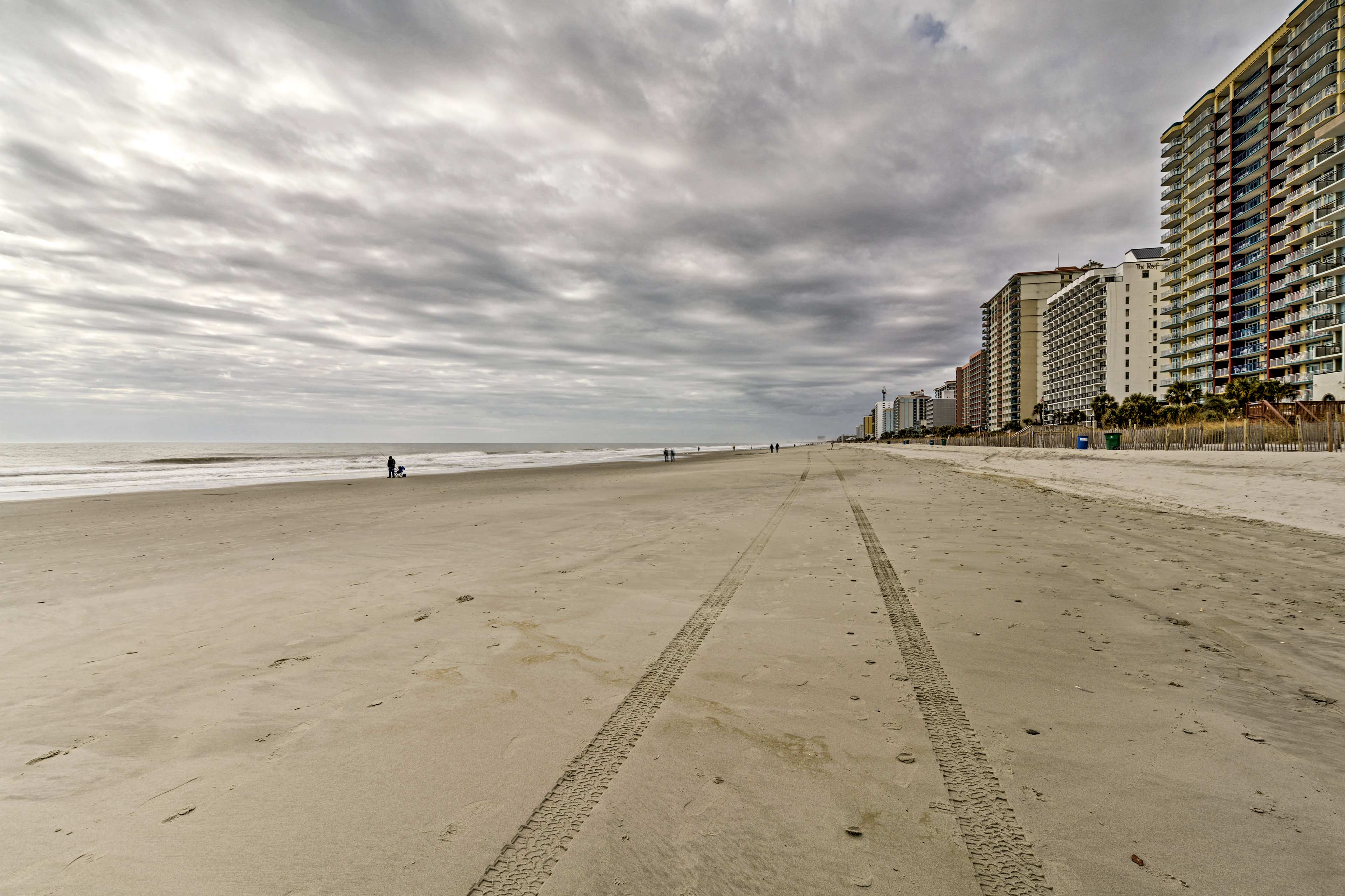 The beach is just a stroll away!
