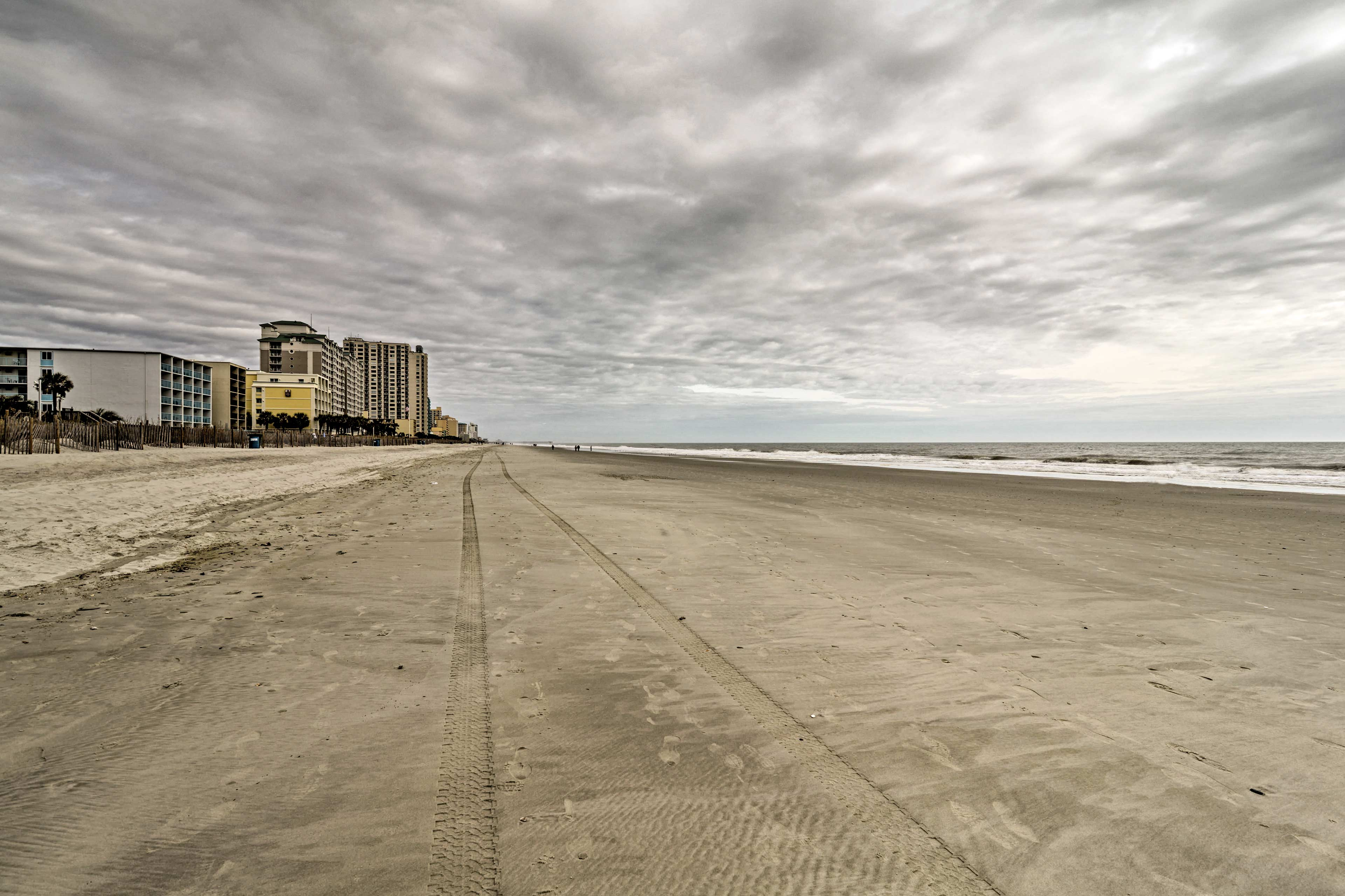 Miles of sandy shores await your stay.