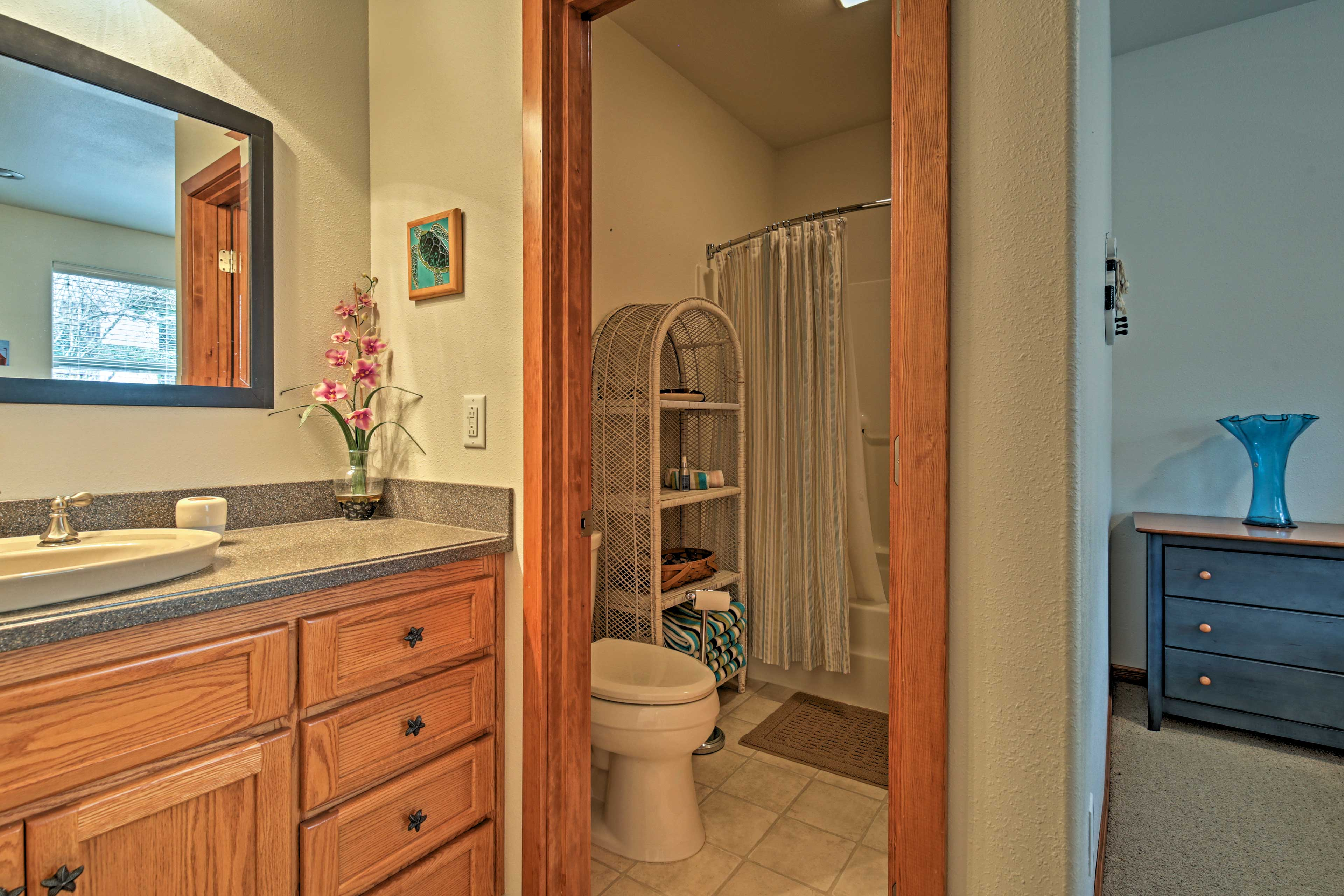 With 2 bathrooms in the home, no one will have to fight over the space.