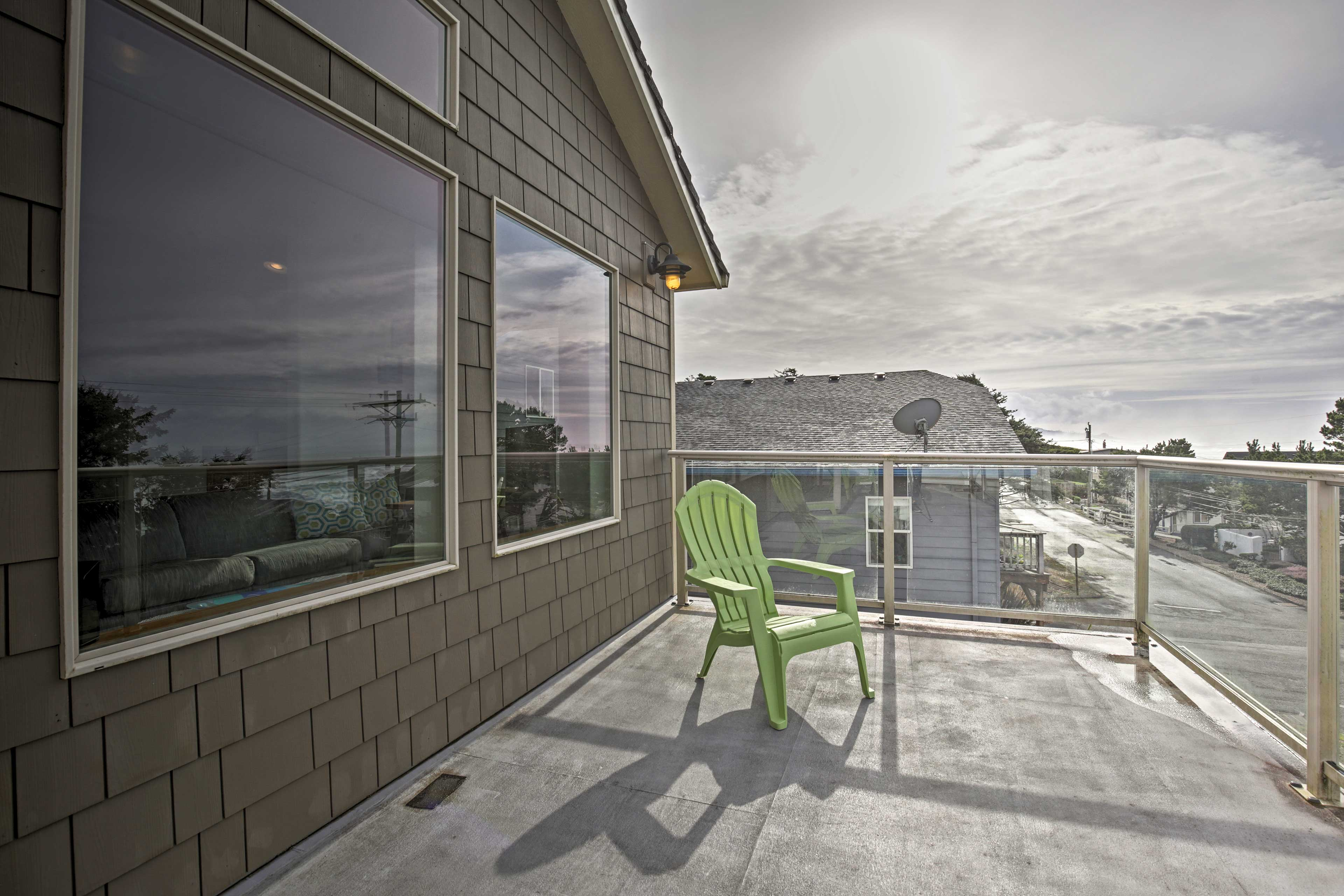 Revel in fresh air and stunning views from the spacious deck.