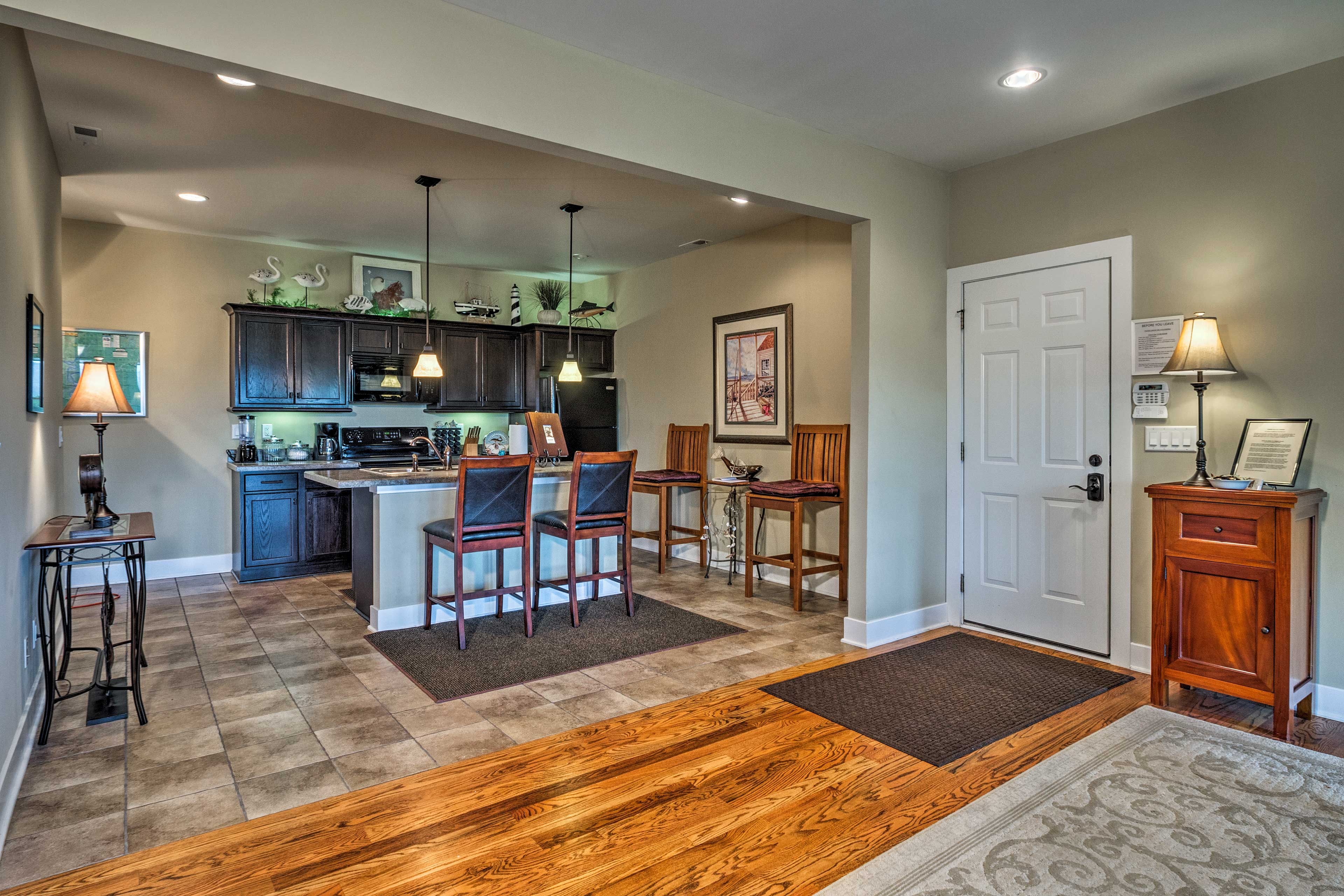 This fully equipped kitchen will make you want to cook up some gourmet meals.