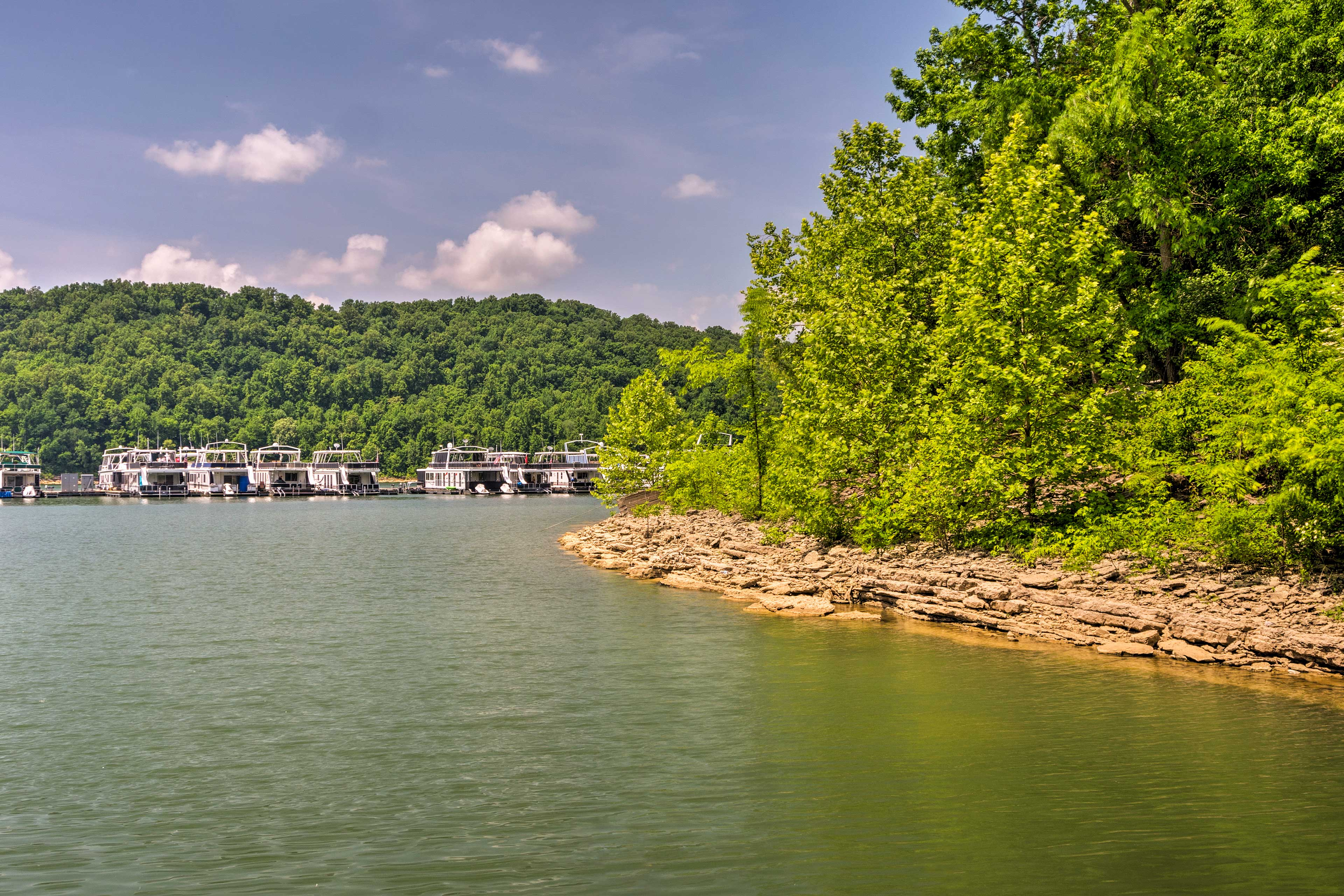 Rent a pontoon boat and go tubing!