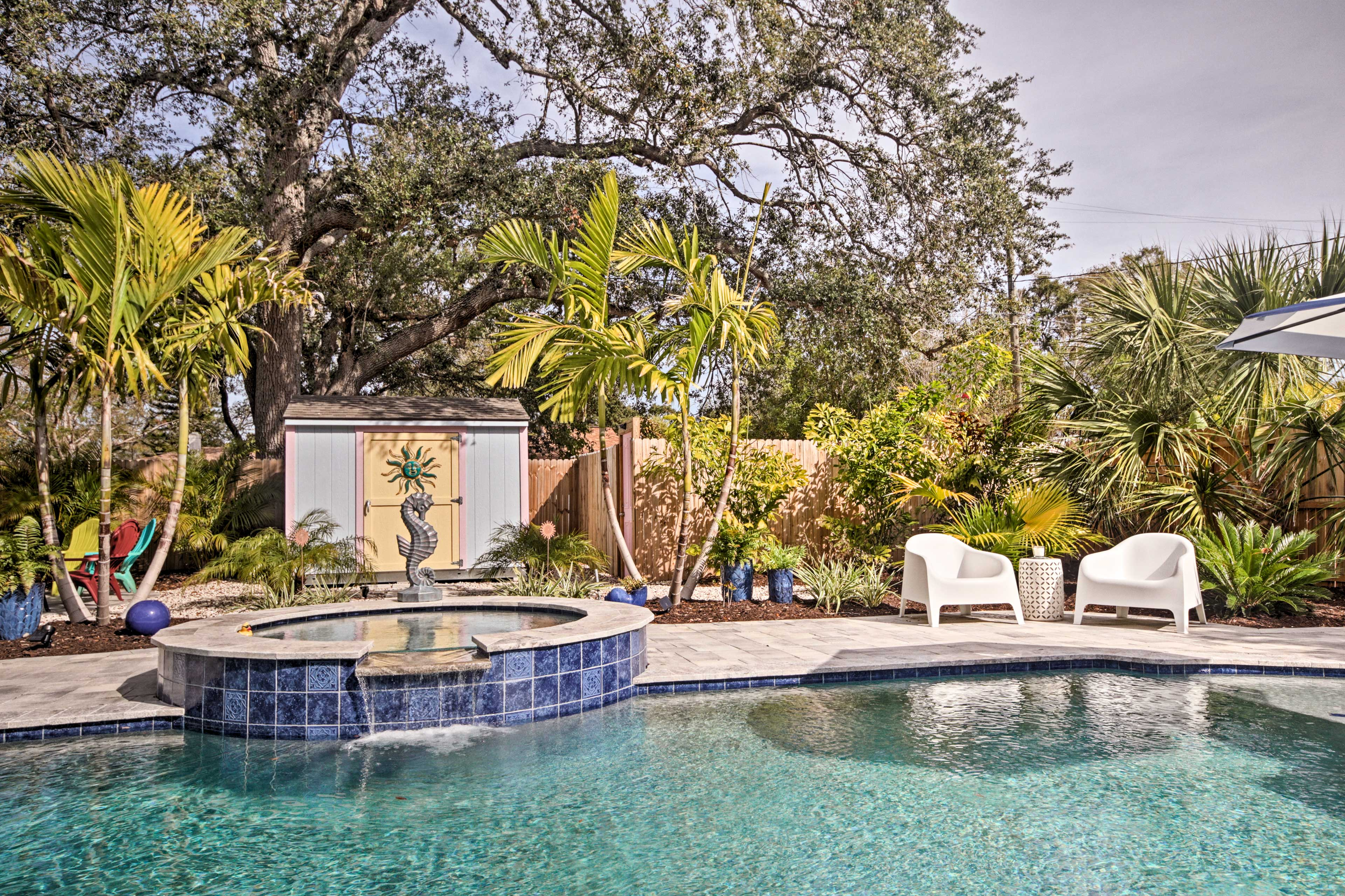 Keep things cool in the pool or turn up the heat in the hot tub.