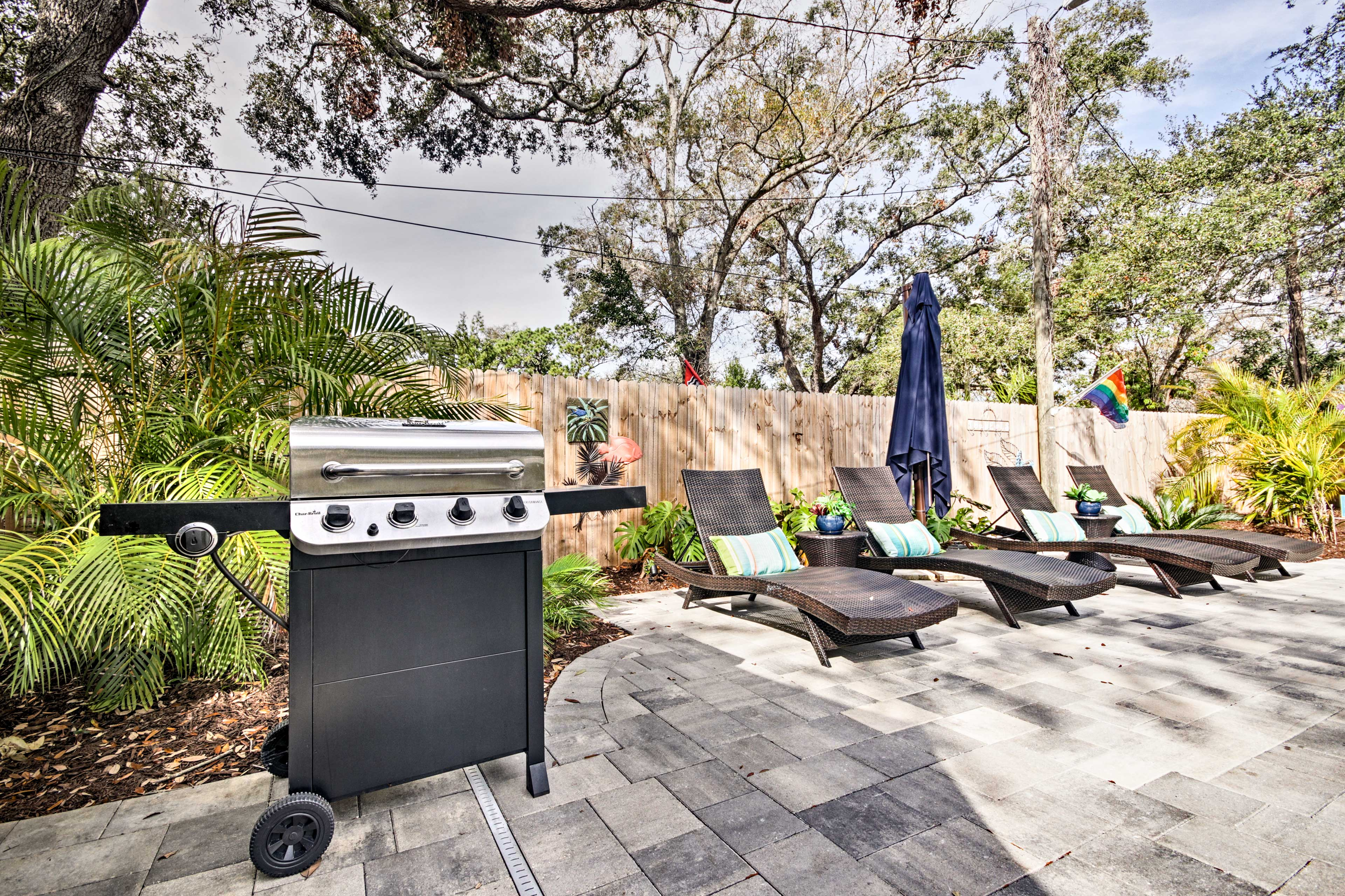 Cook up a feast on the gas grill.
