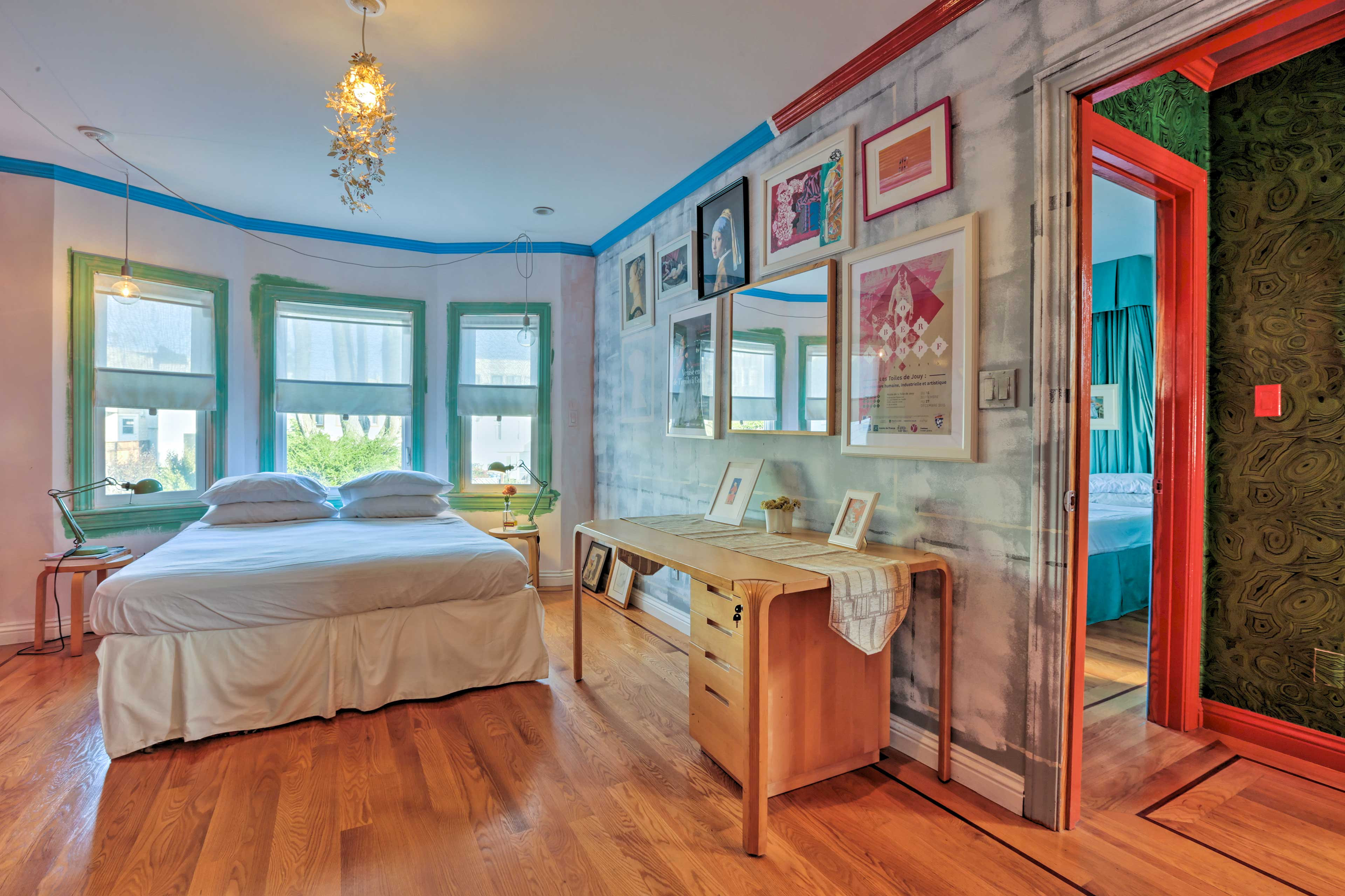 """While """"Reve"""" invites restful slumbers, the windows welcome sun-filled mornings!"""