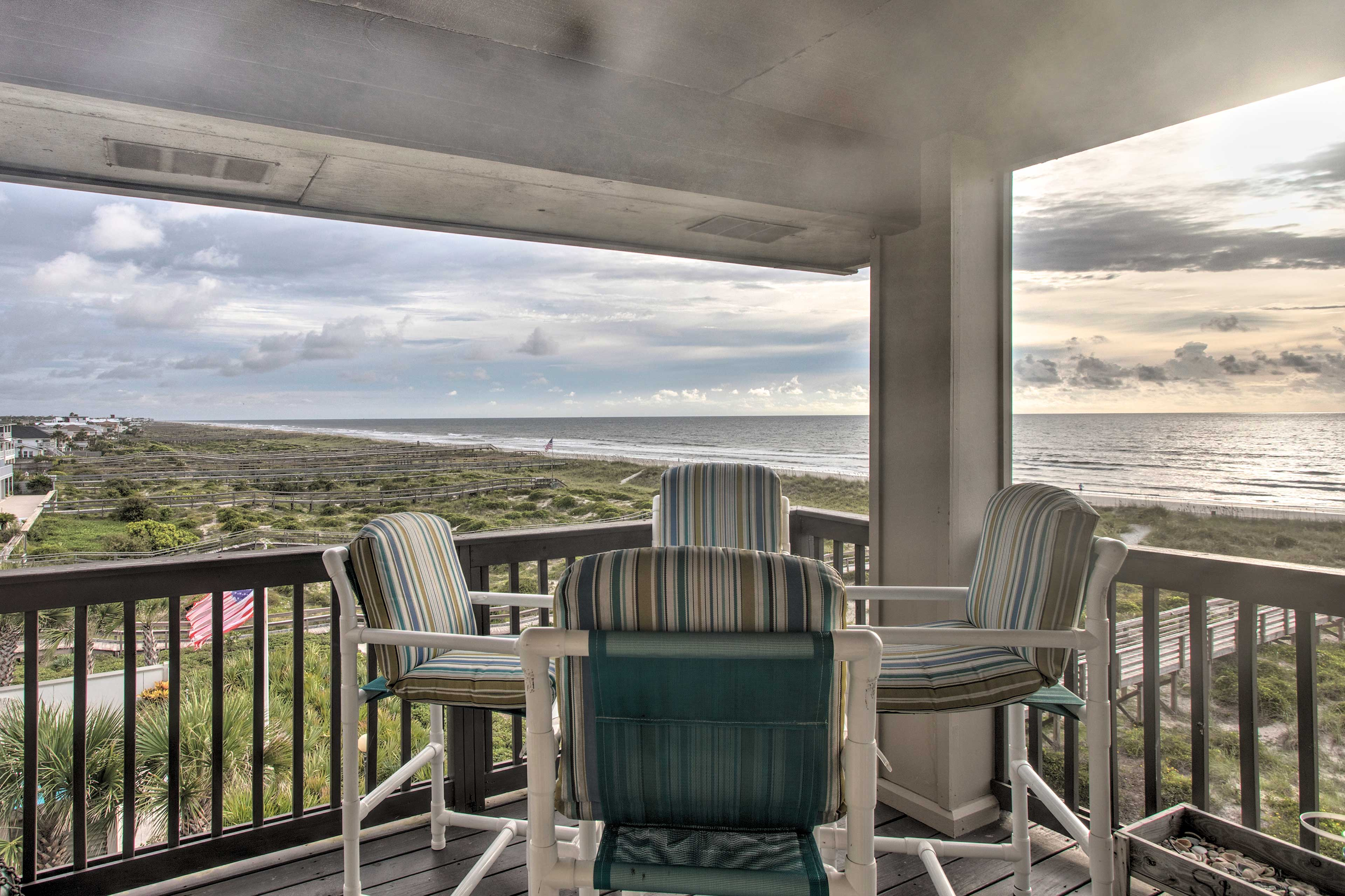 Book a trip to this  2-bedroom, 2-bath vacation rental villa in Fernandina Beach