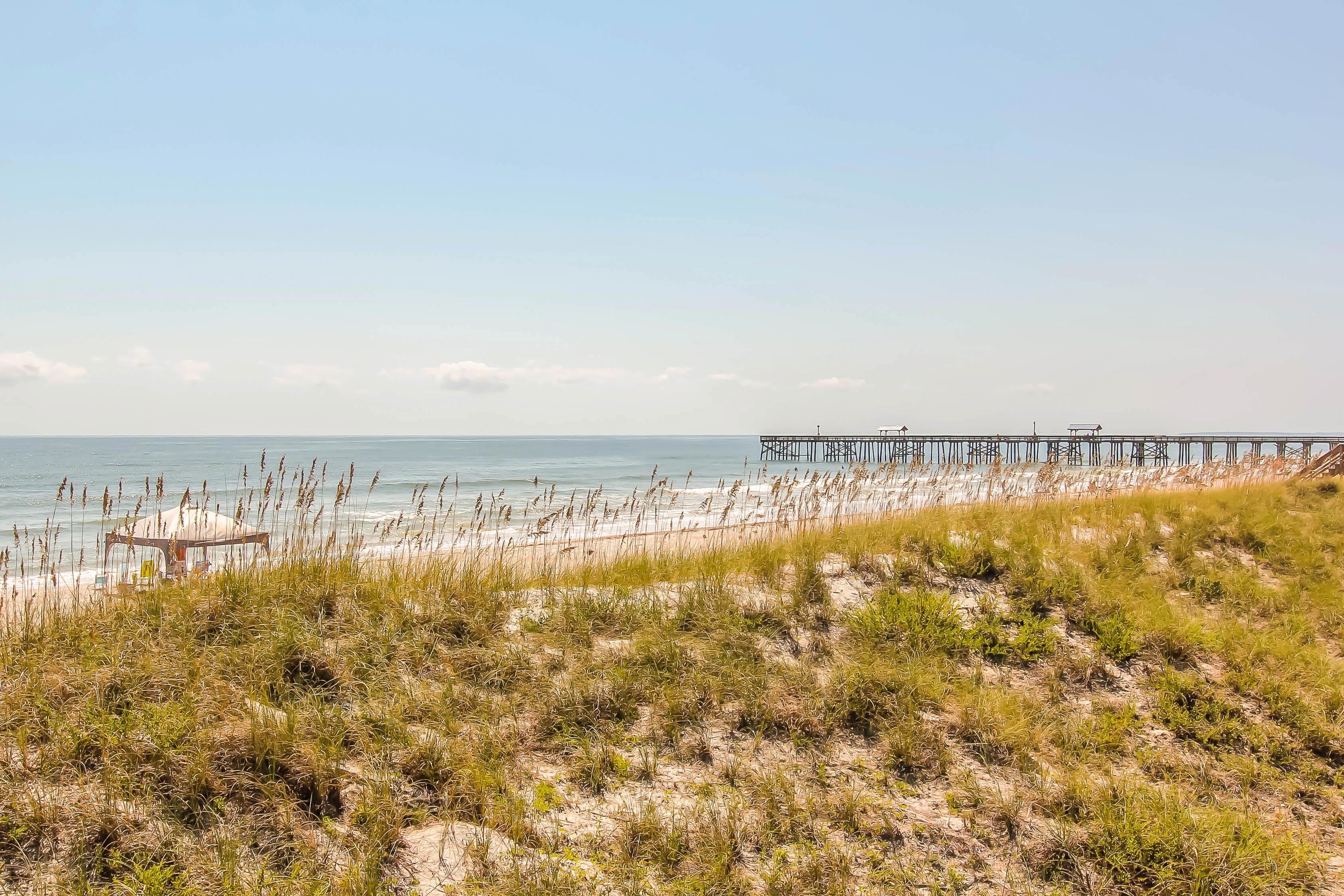 Take a short walk to the beach.
