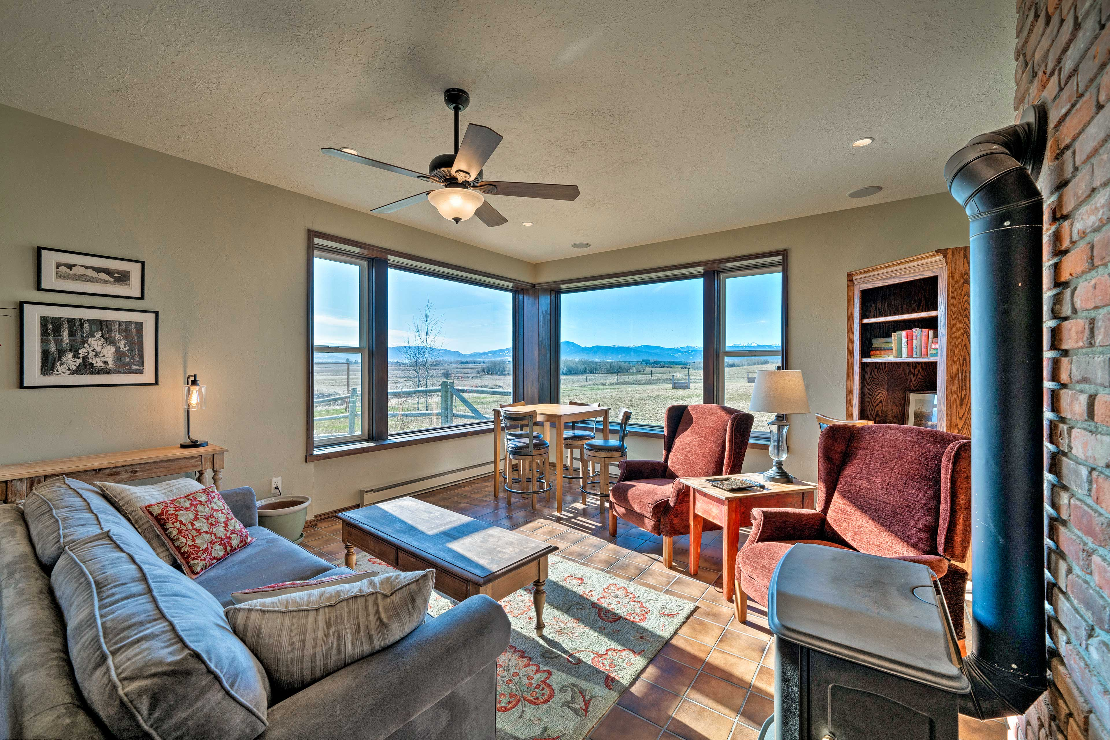 This vacation rental home boasts stunning views from every window!