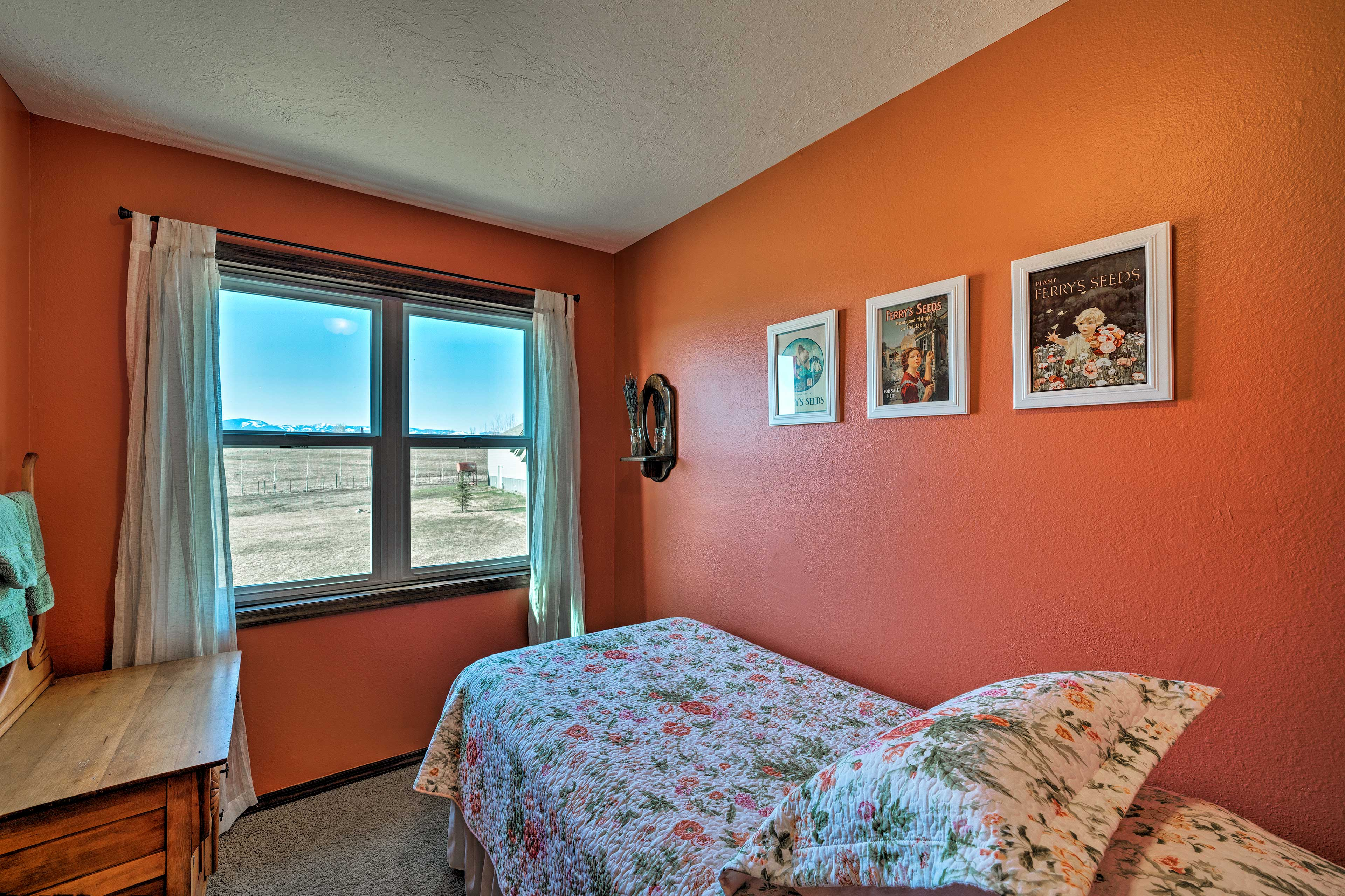 This bedroom features a twin bed.