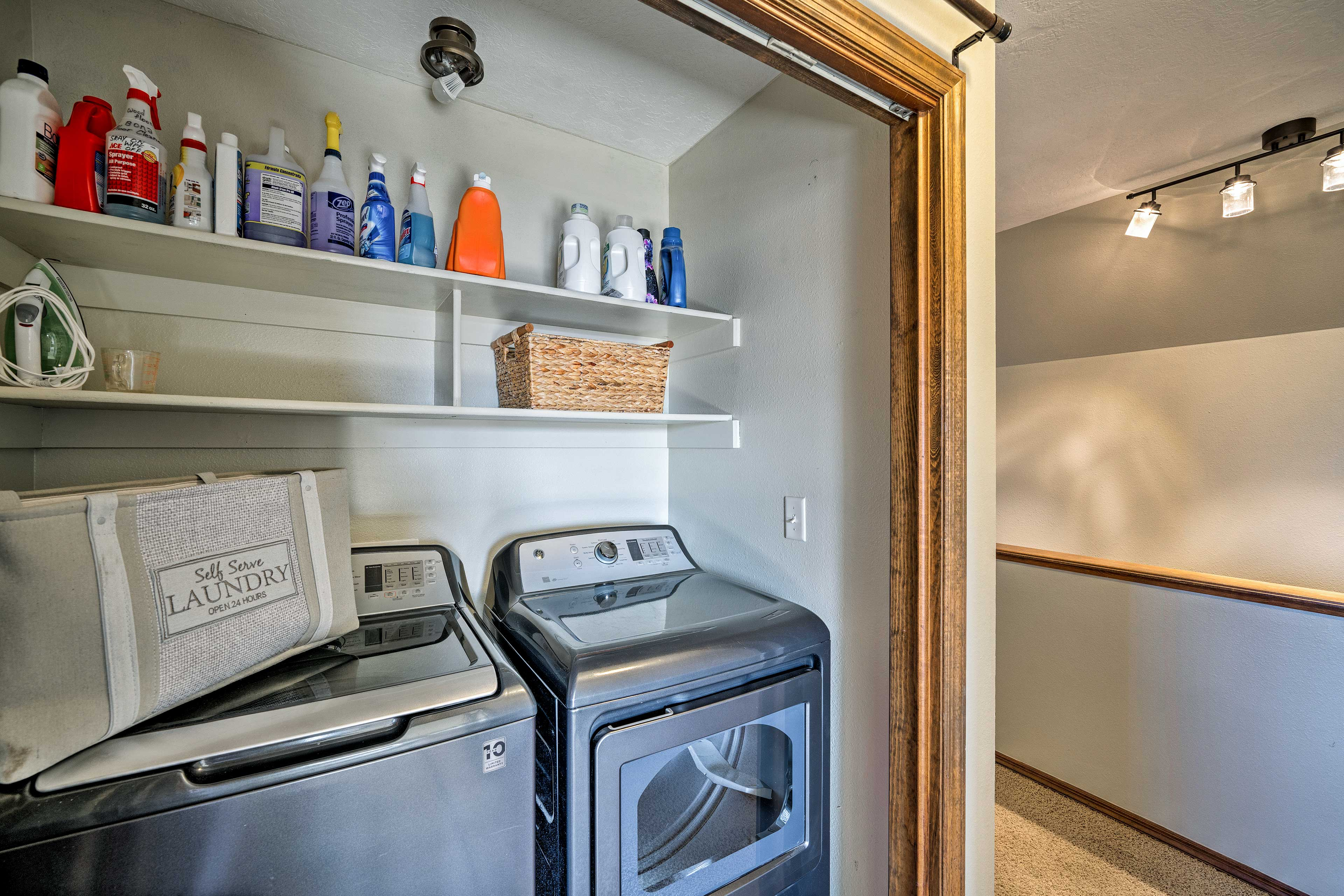 Keep your clothes fresh with the in-unit laundry machines.