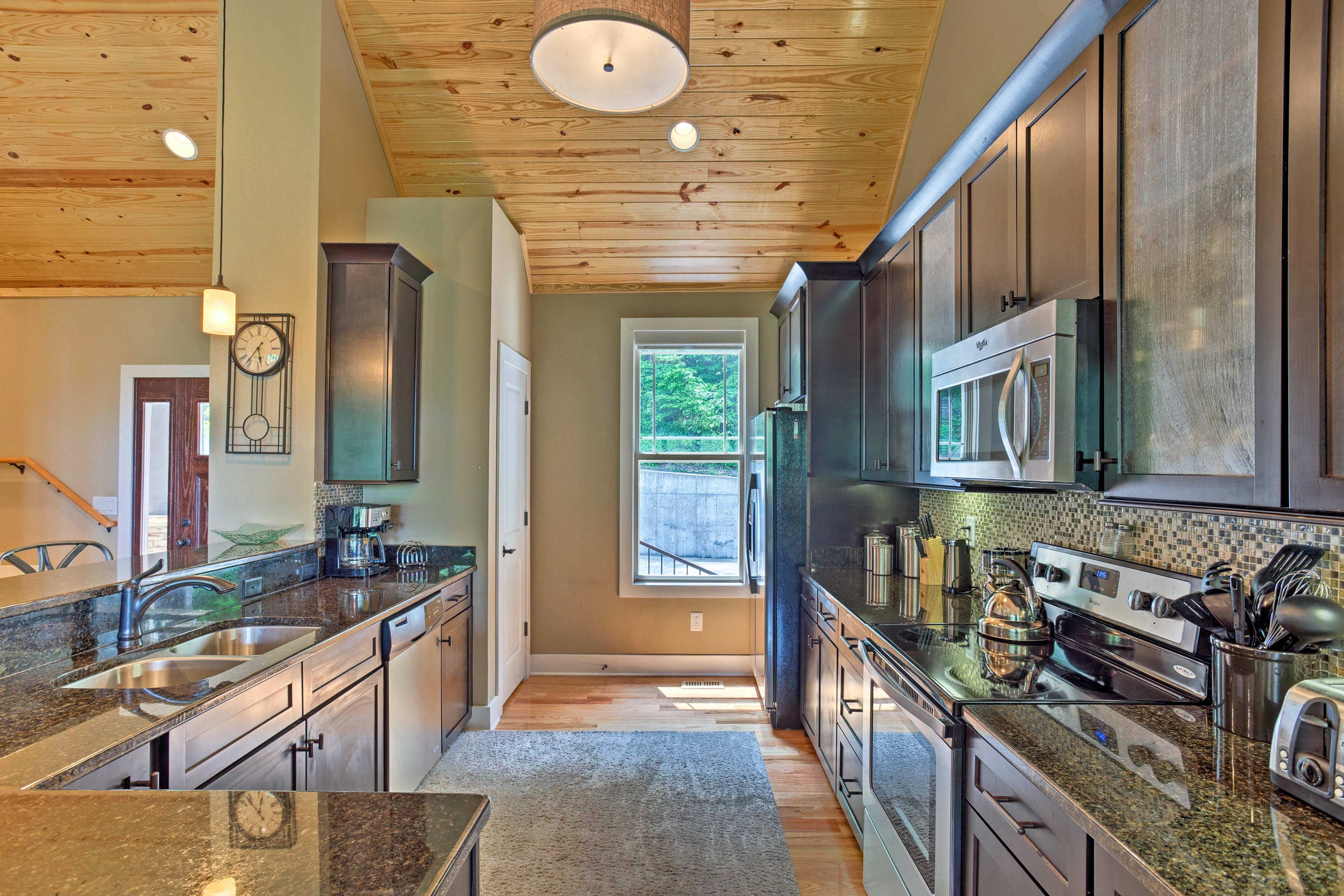 Cooking will be effortless in the fully equipped kitchen.