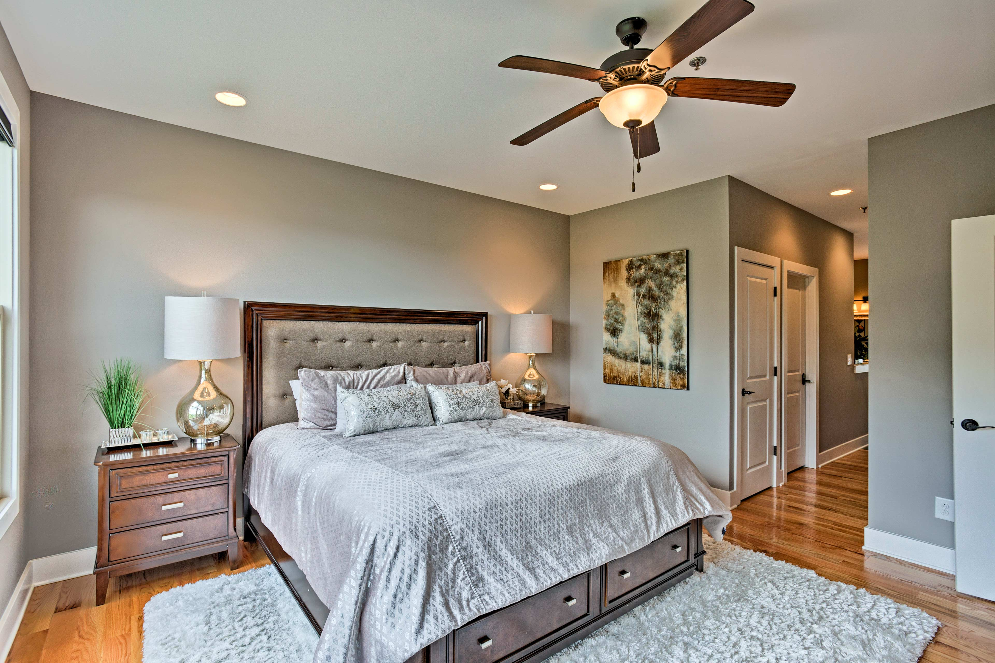 You'll love the lavish feel of the master bedroom.