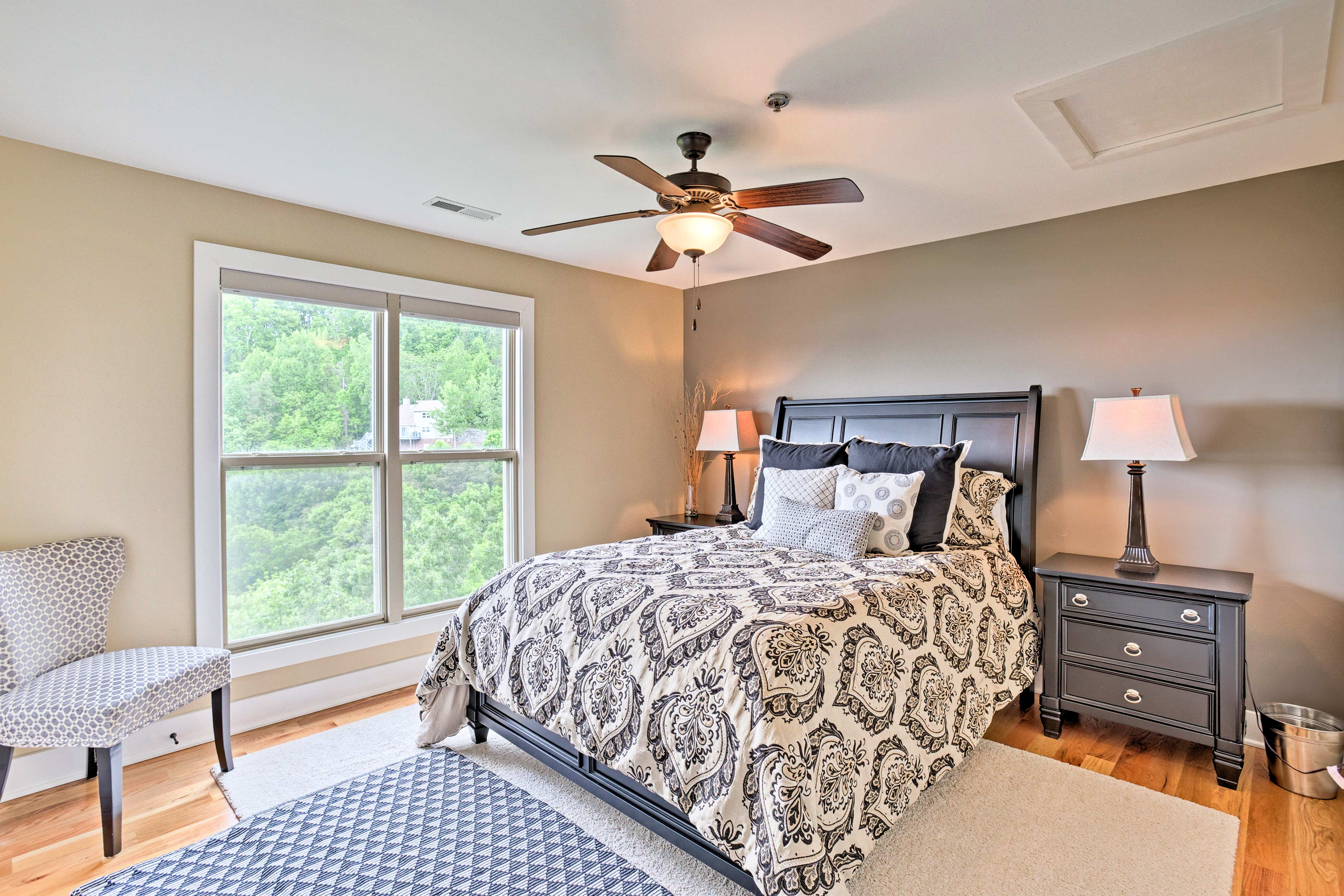 Both the second and third bedroom come with plush queen beds.