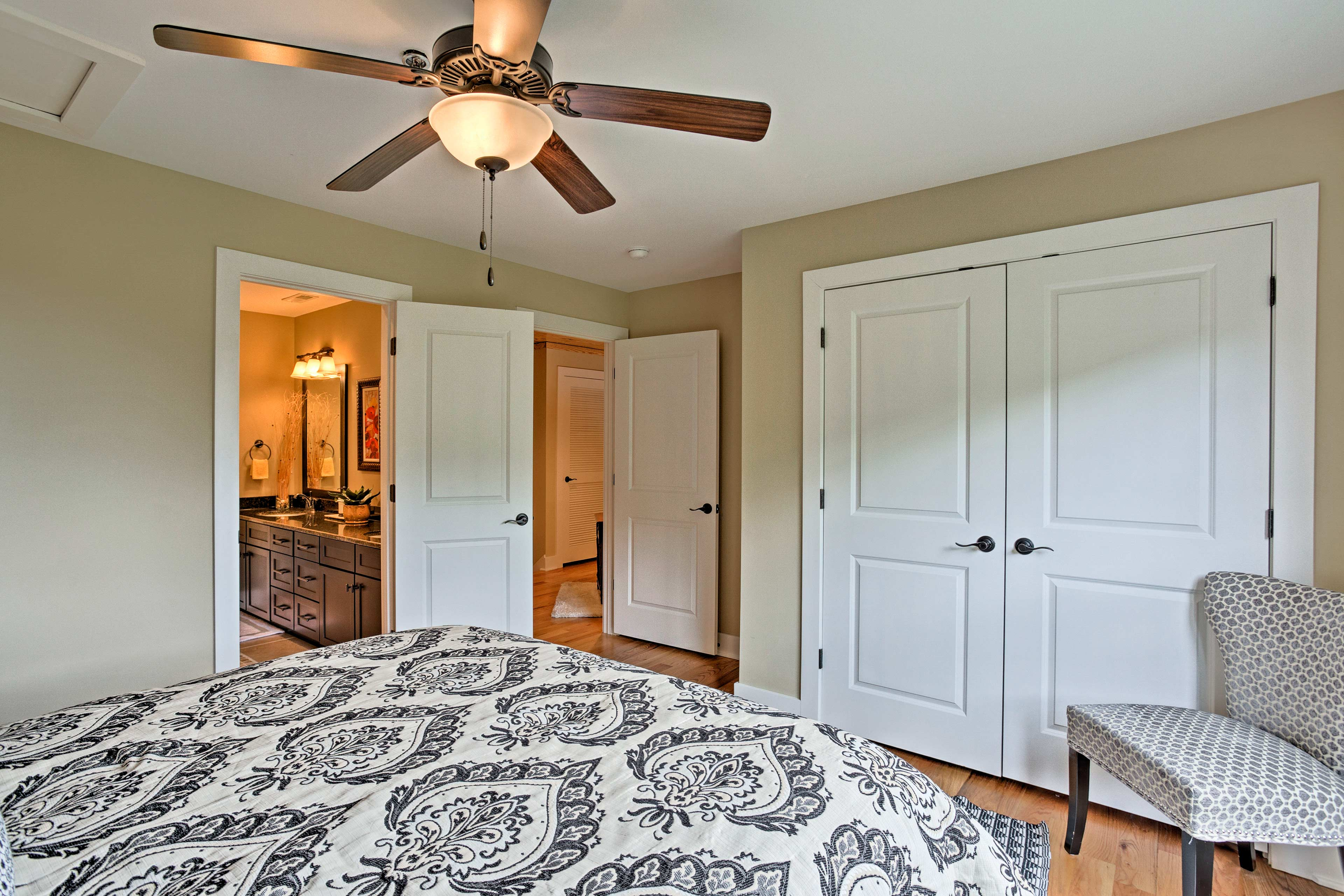 Turn the ceiling fan on for a breeze while you sleep.