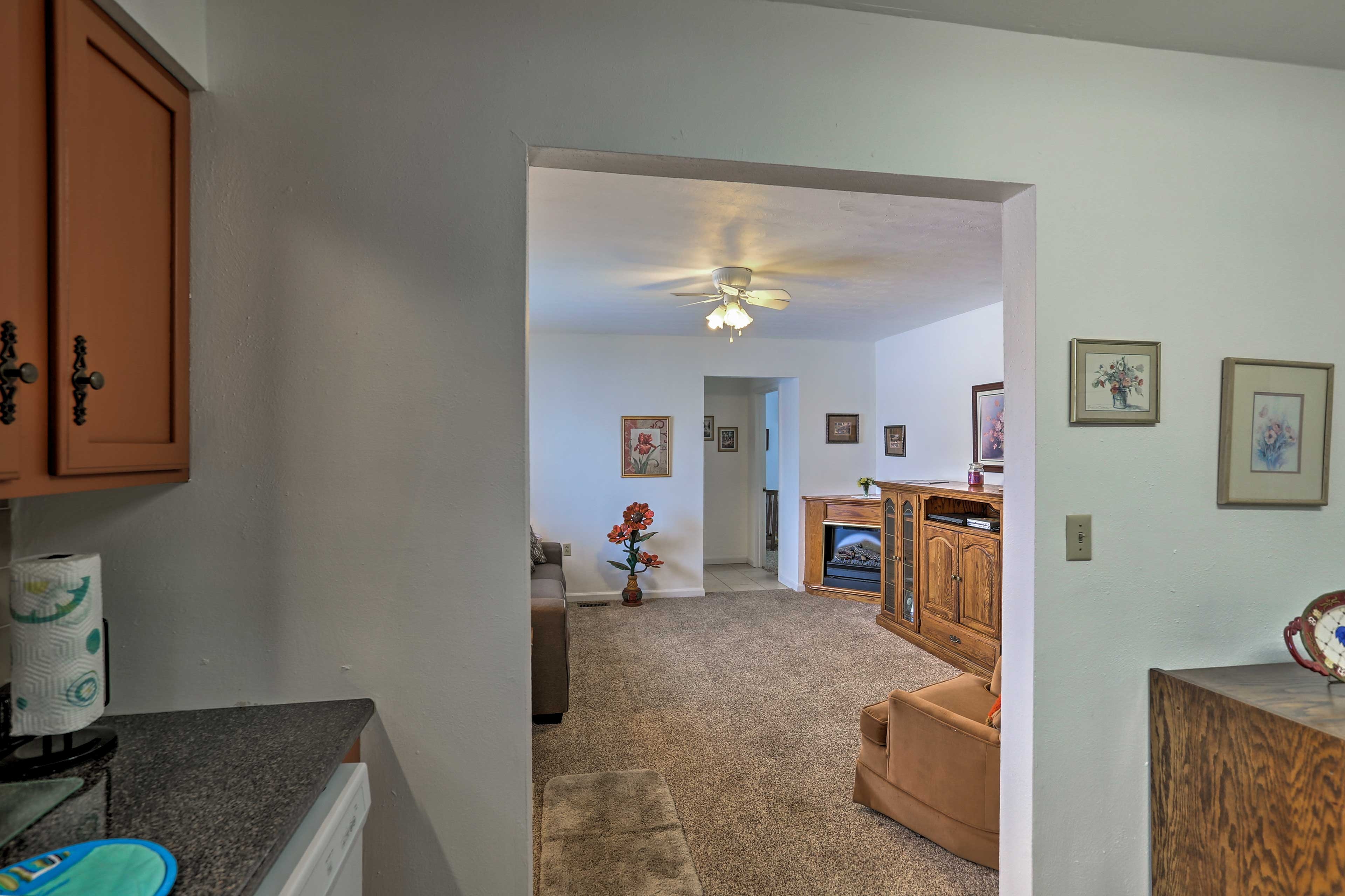 The open layout is perfect for a family.