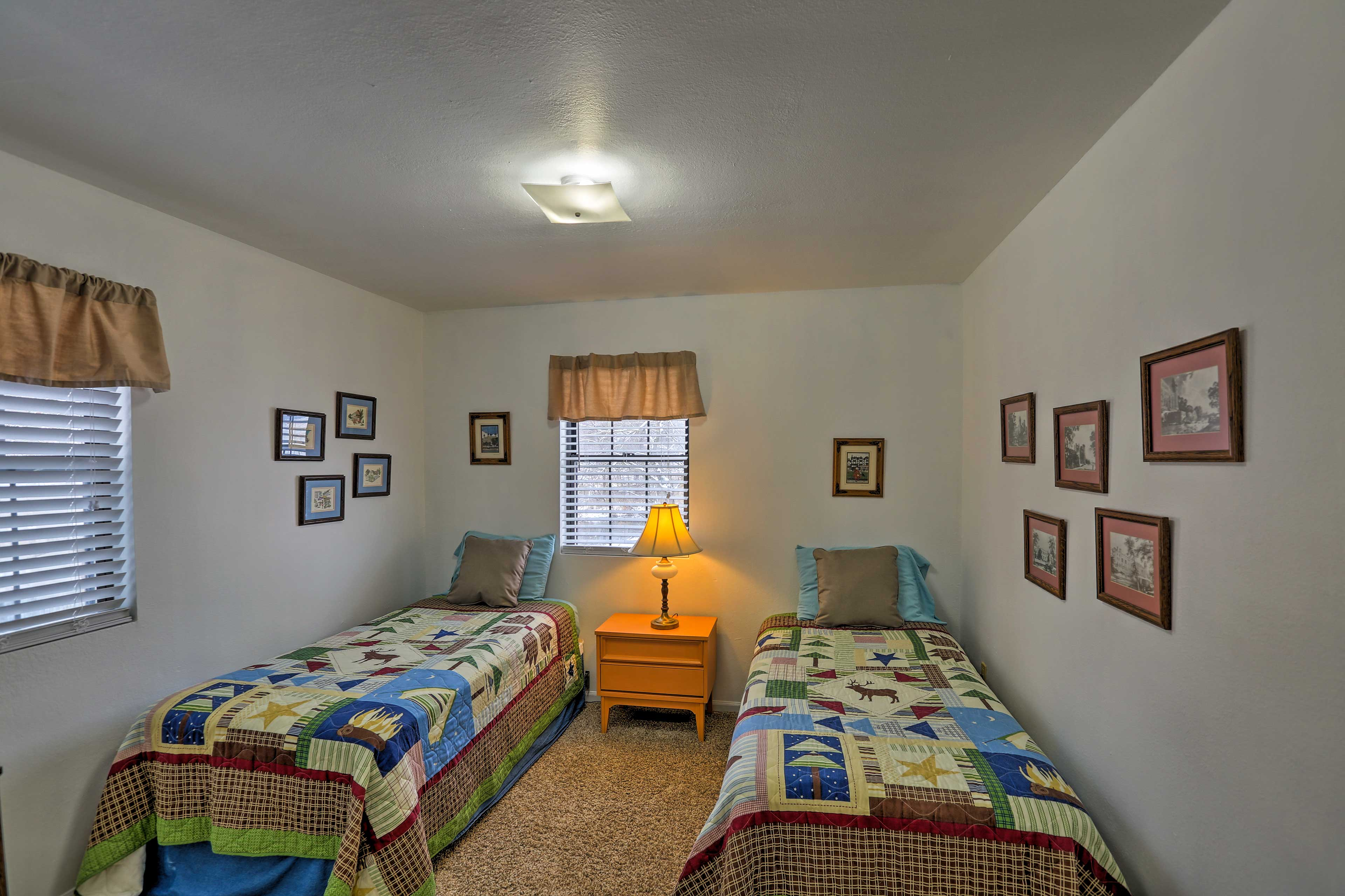 Kids love the second bedroom with 2 twin beds.