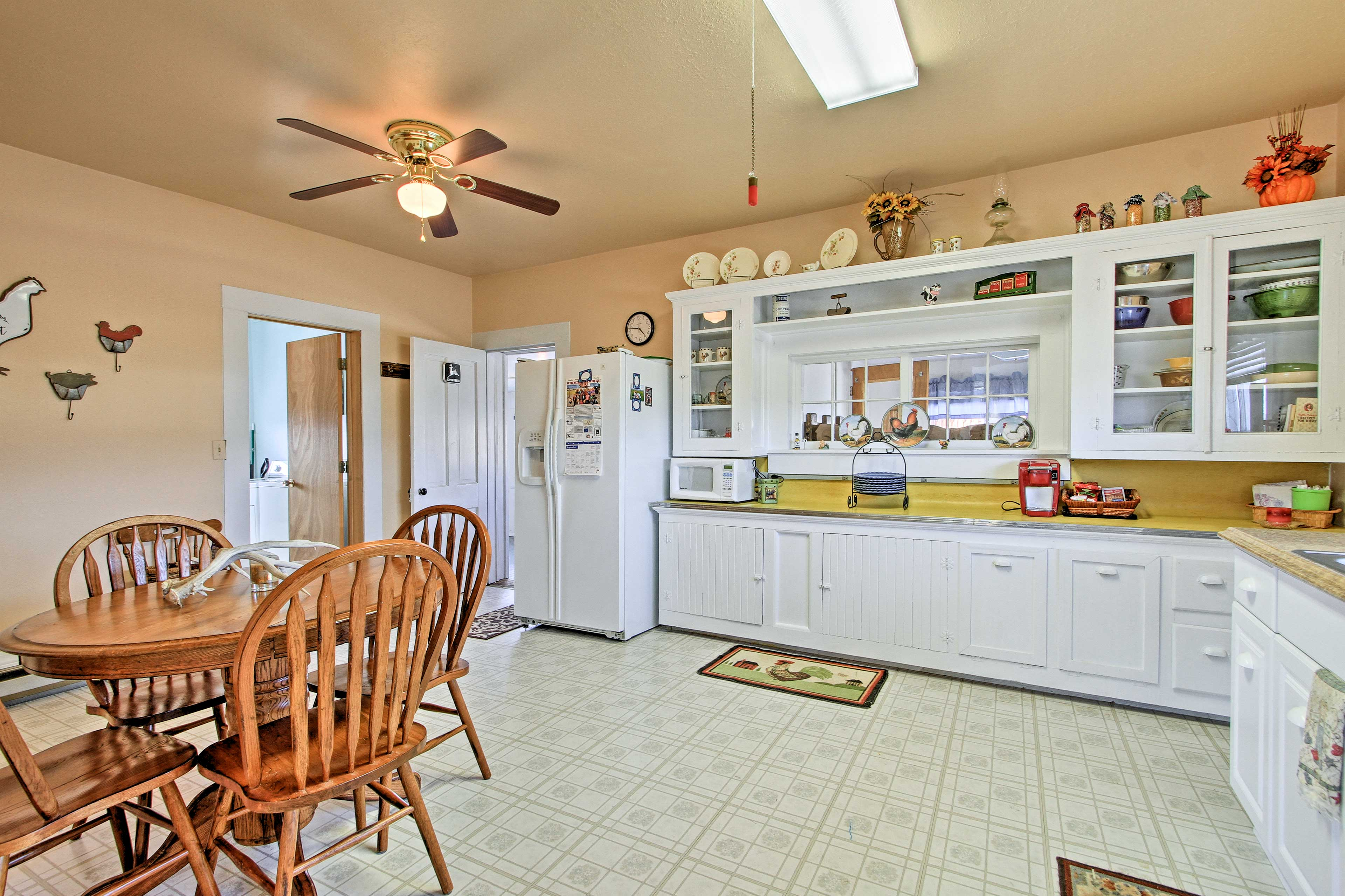 Enjoy a home-cooked meal at the 4-person dining table.