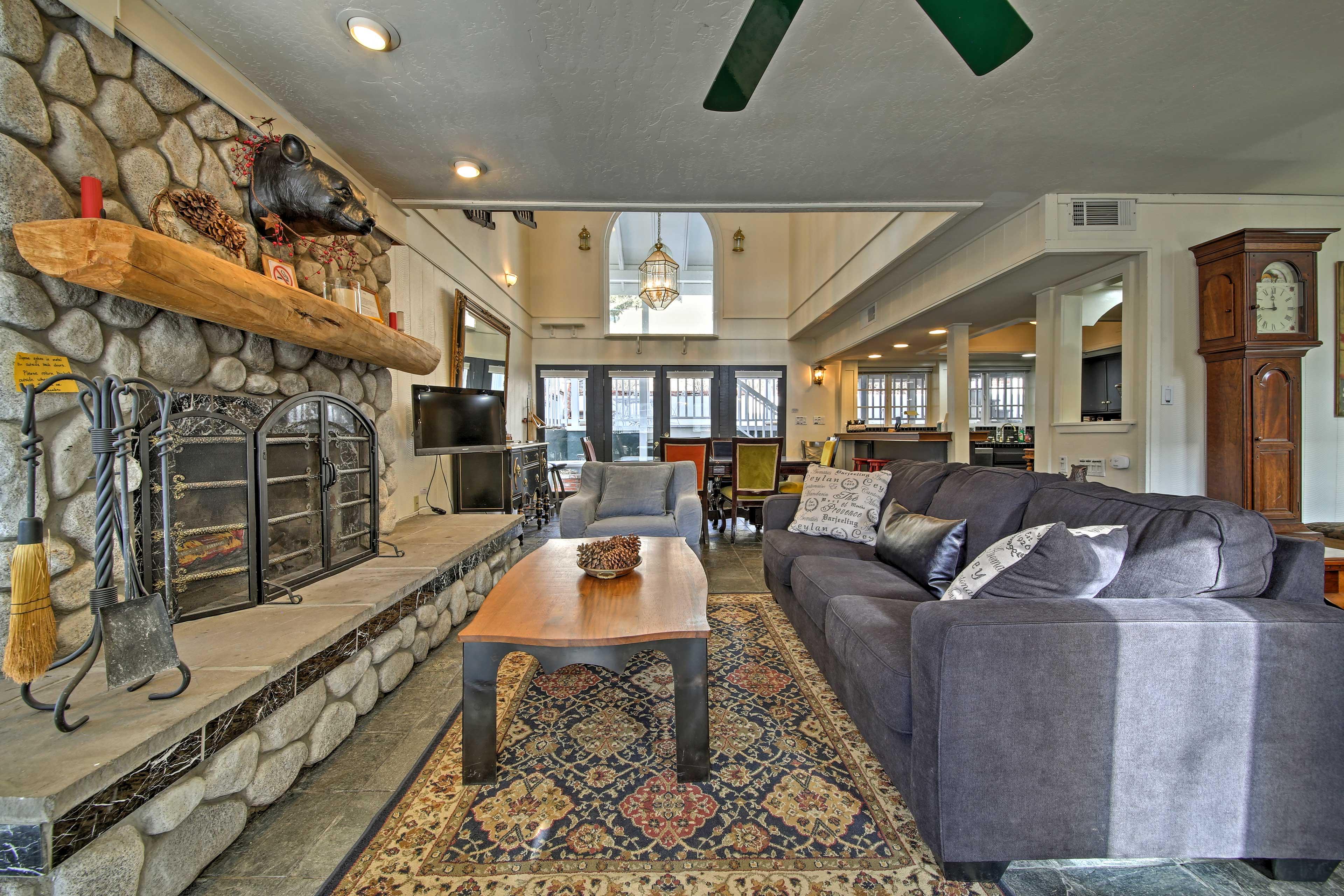 The home features an open-concept floor plan.