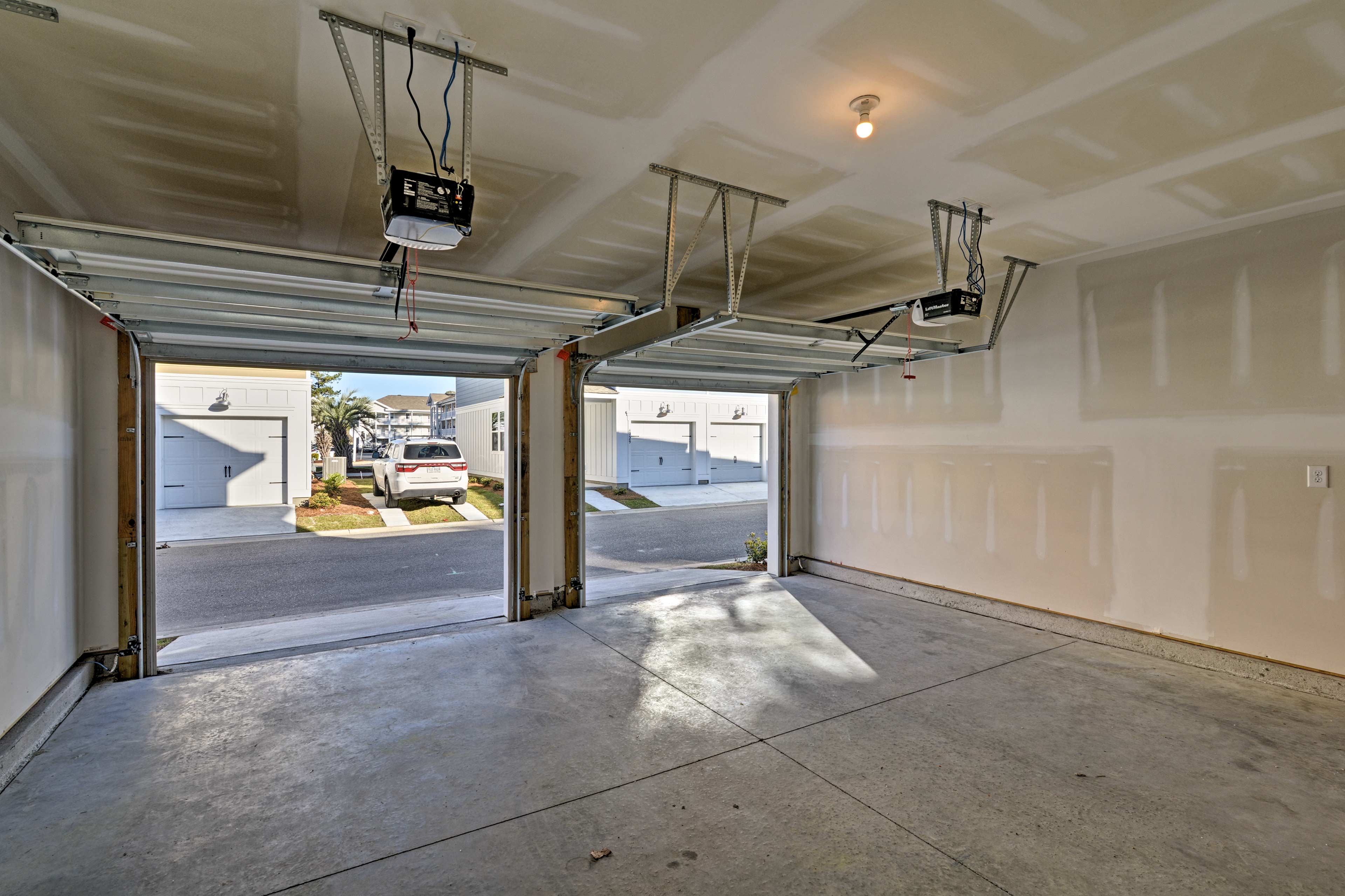 2 garage parking spots are available with this home.