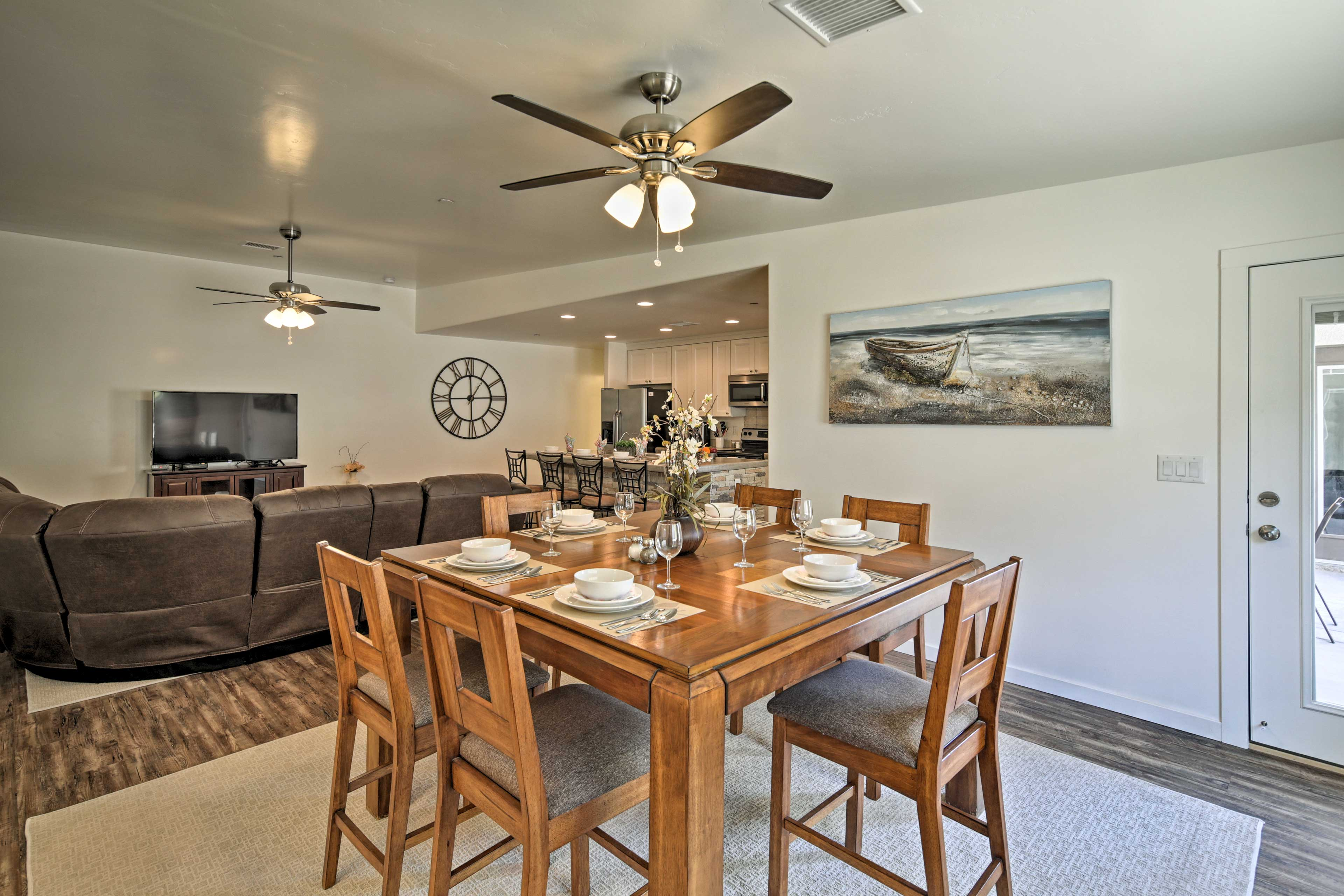 Connect with fellow guests over a home-cooked meal.