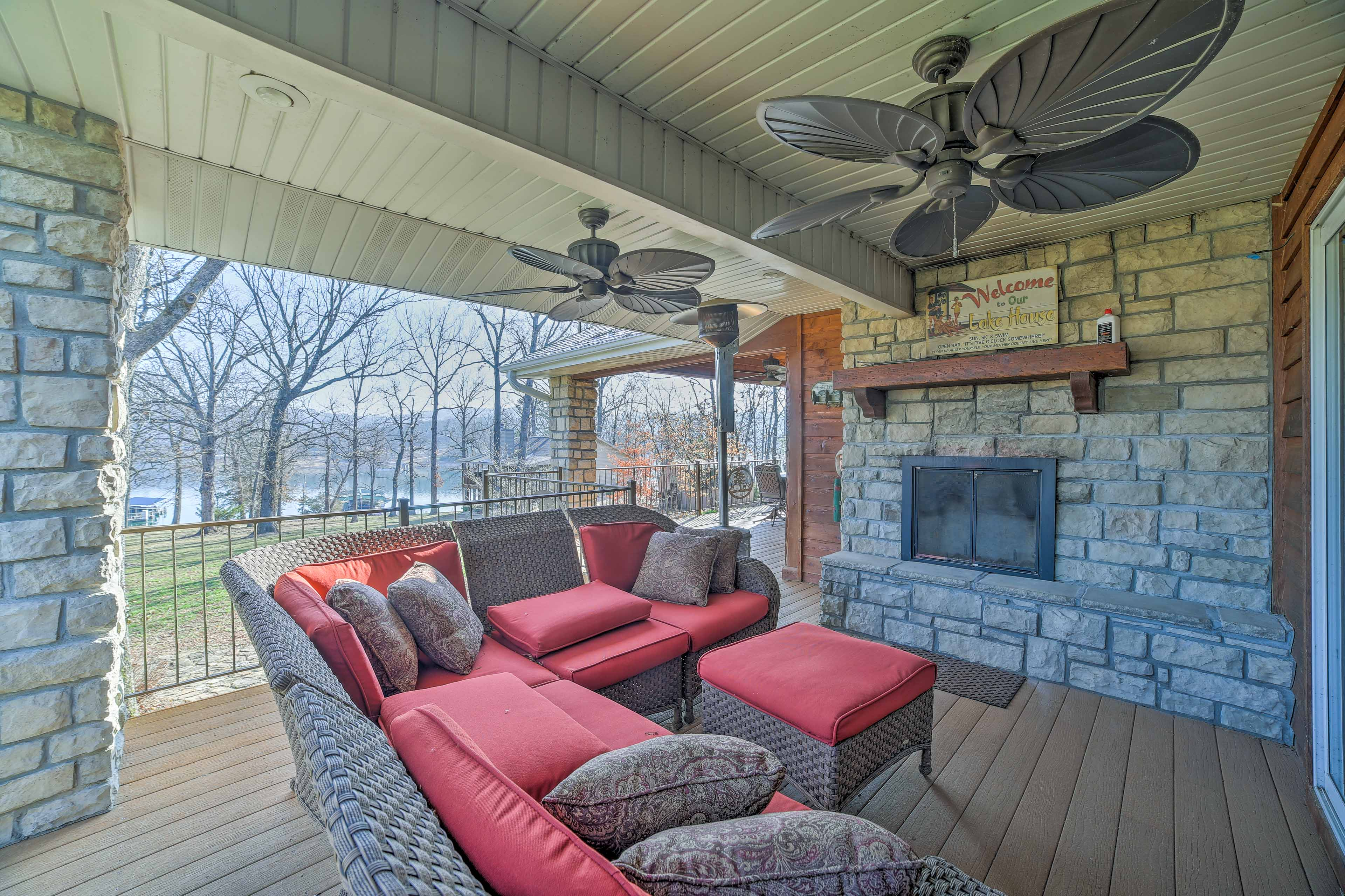 You'll love ending your day reclining by the fire while watching the sunset.