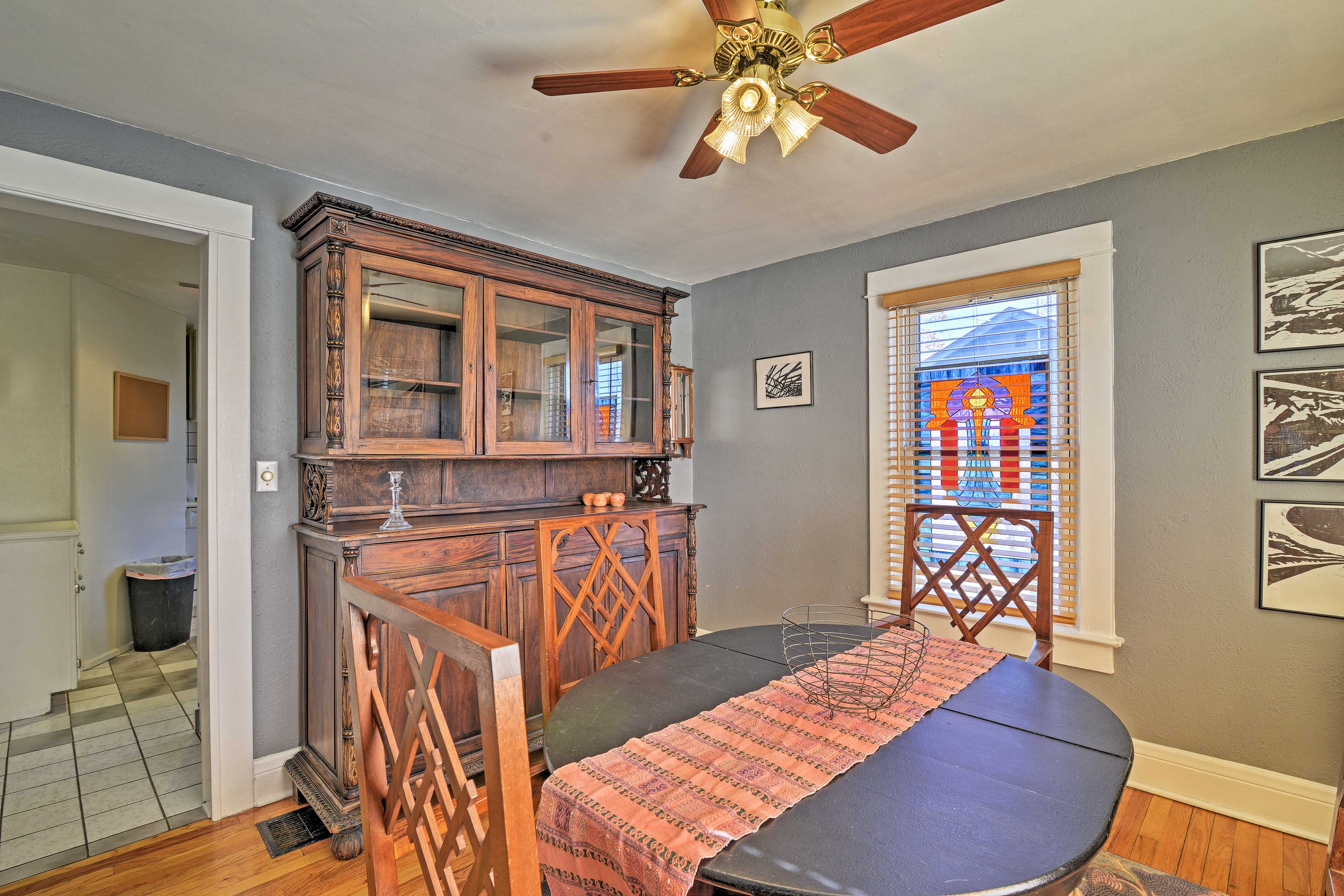 The 4-person dining room is perfect for your formal meals.