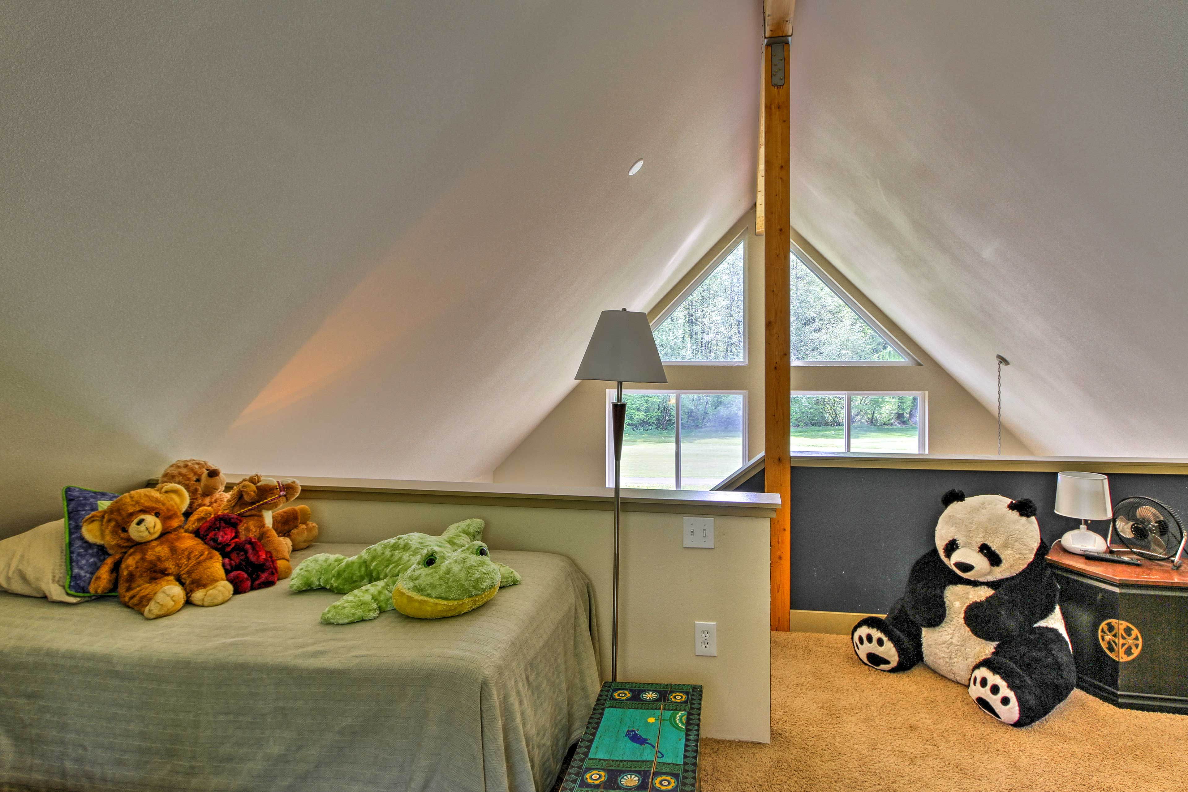 Tuck the little ones into bed with a stuffed animal!