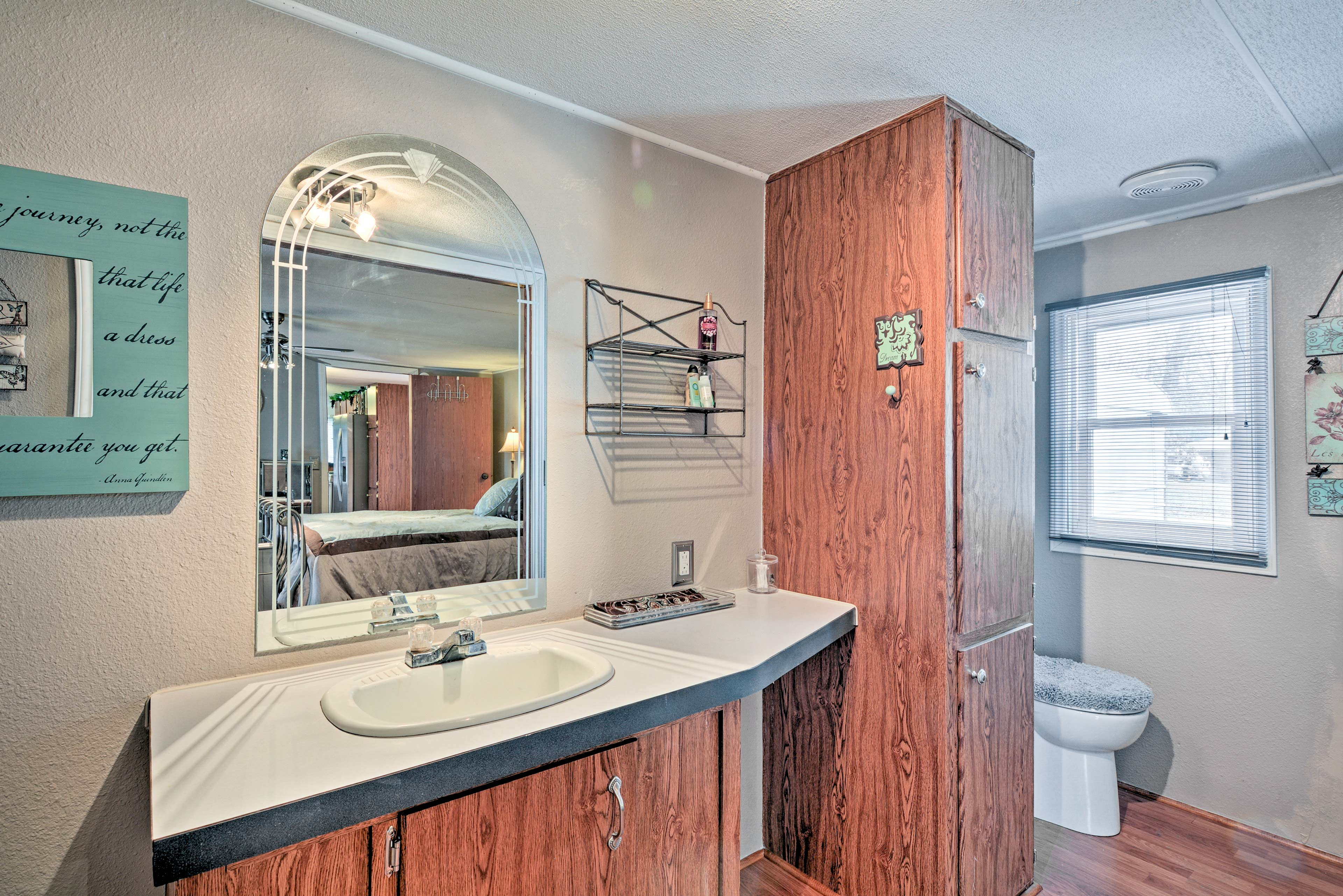 Shower off in the private en-suite bathroom stocked with fresh towels.