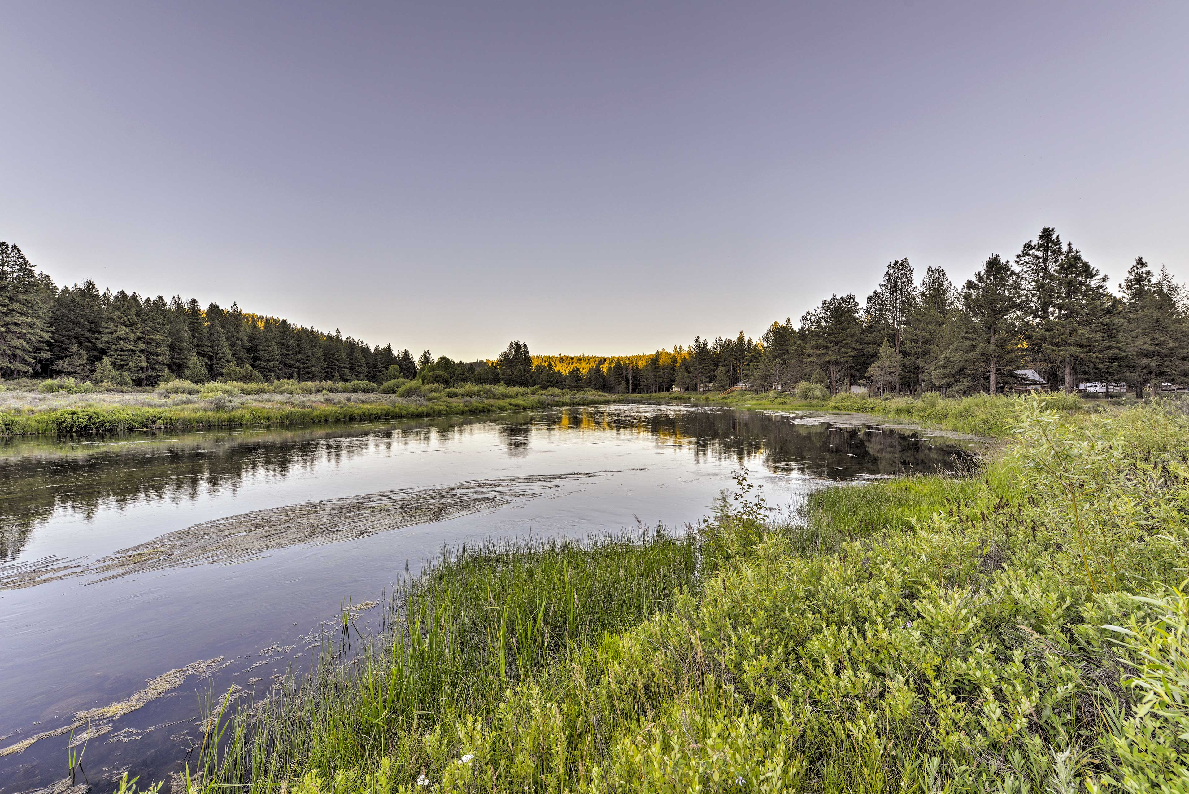 Located on the Sprague River, this home for 13 is a natural paradise.