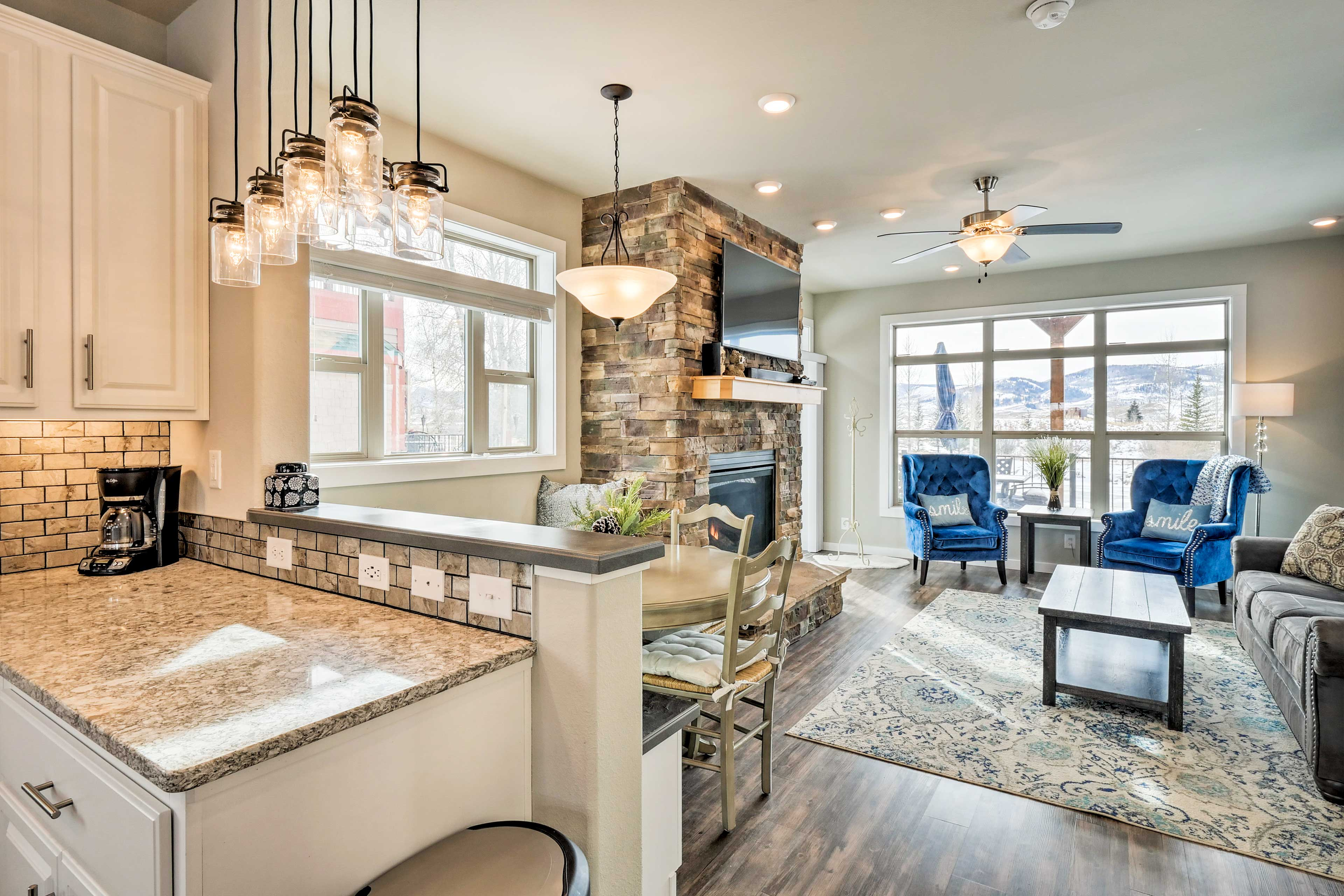 The open floor plan allows the home to feel comfortable and inviting.