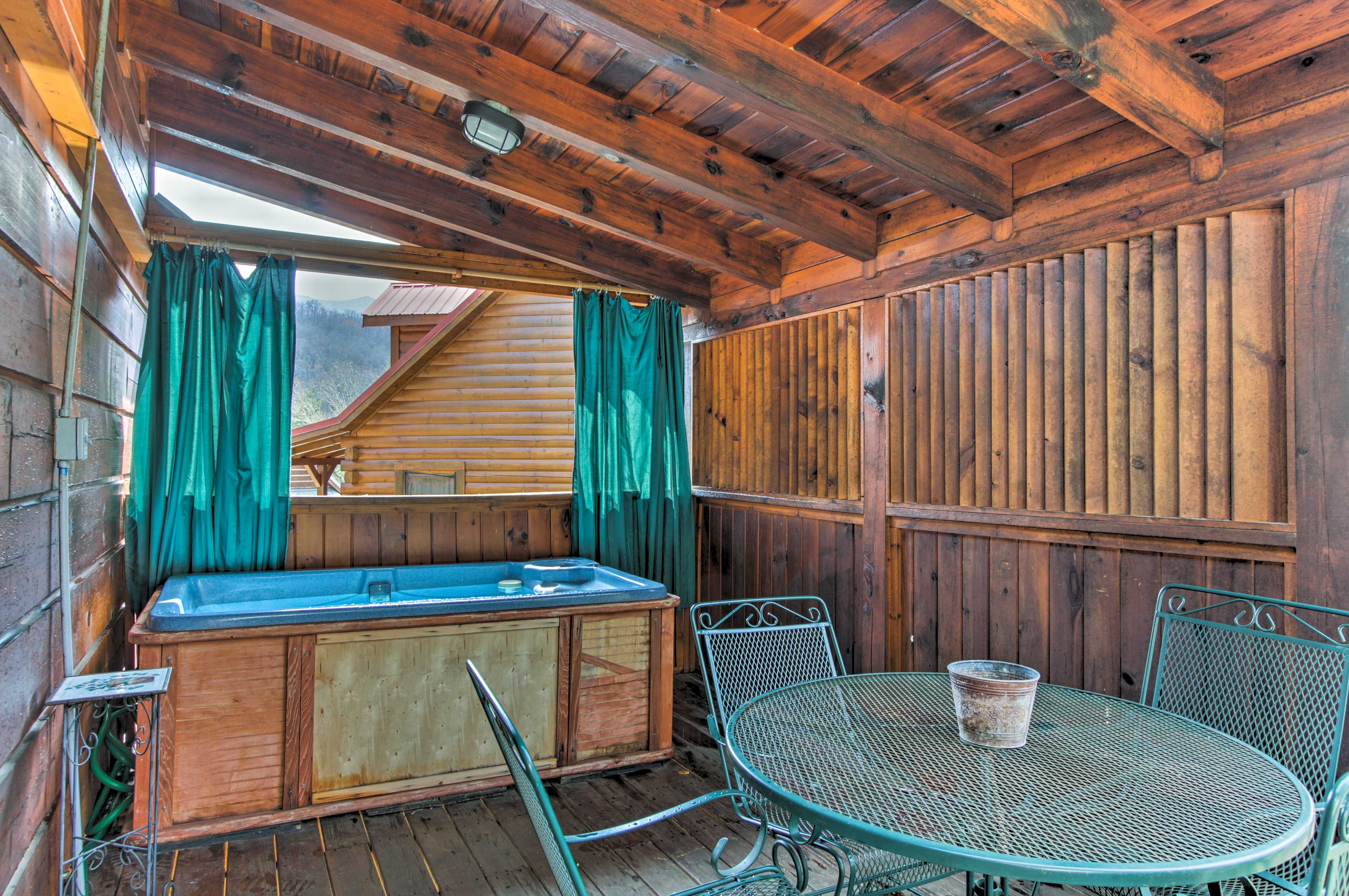 Climb into the hot tub after you finish breakfast.