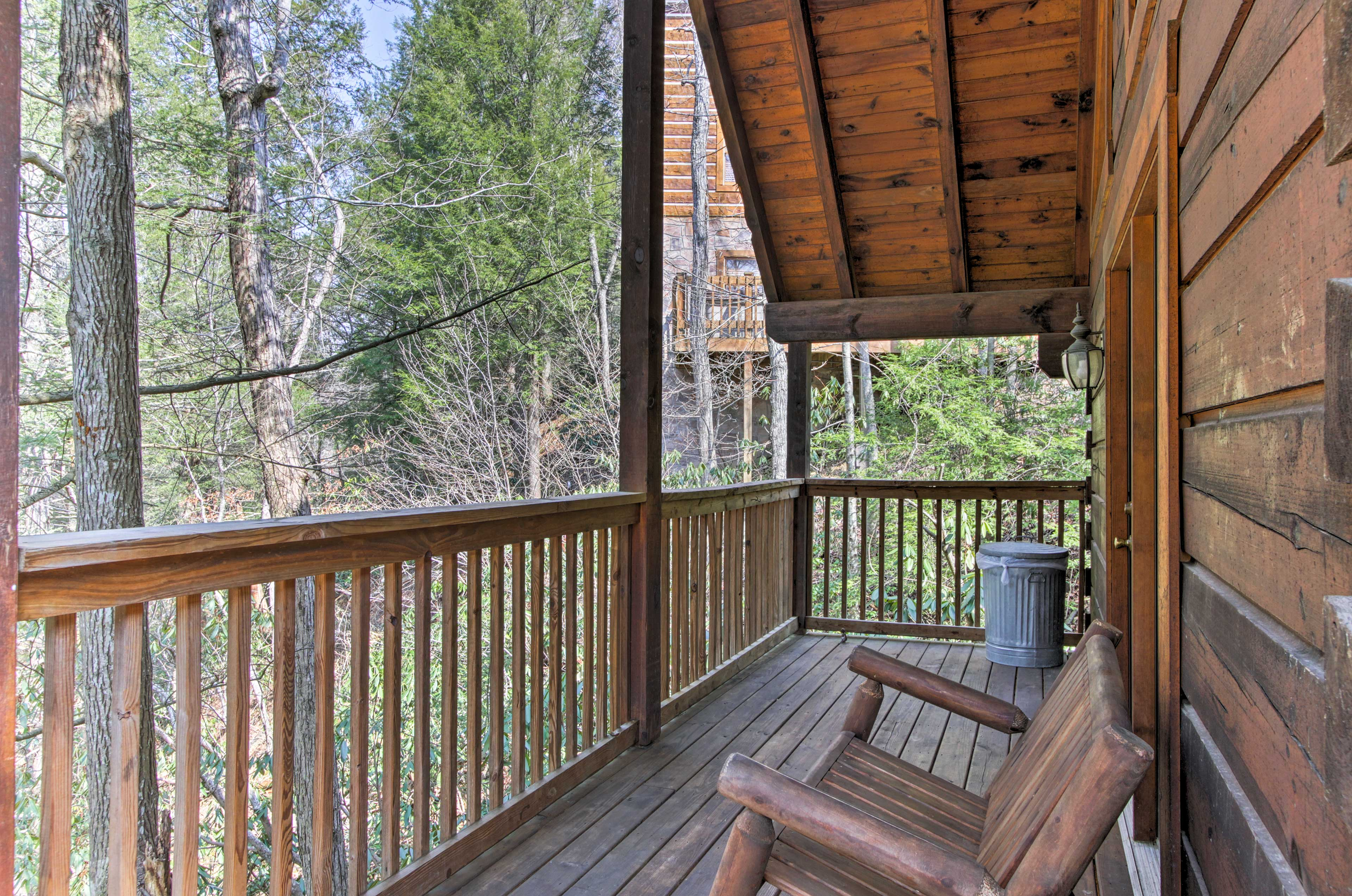 You'll be able to sip your morning coffee in mountain peace and quiet!