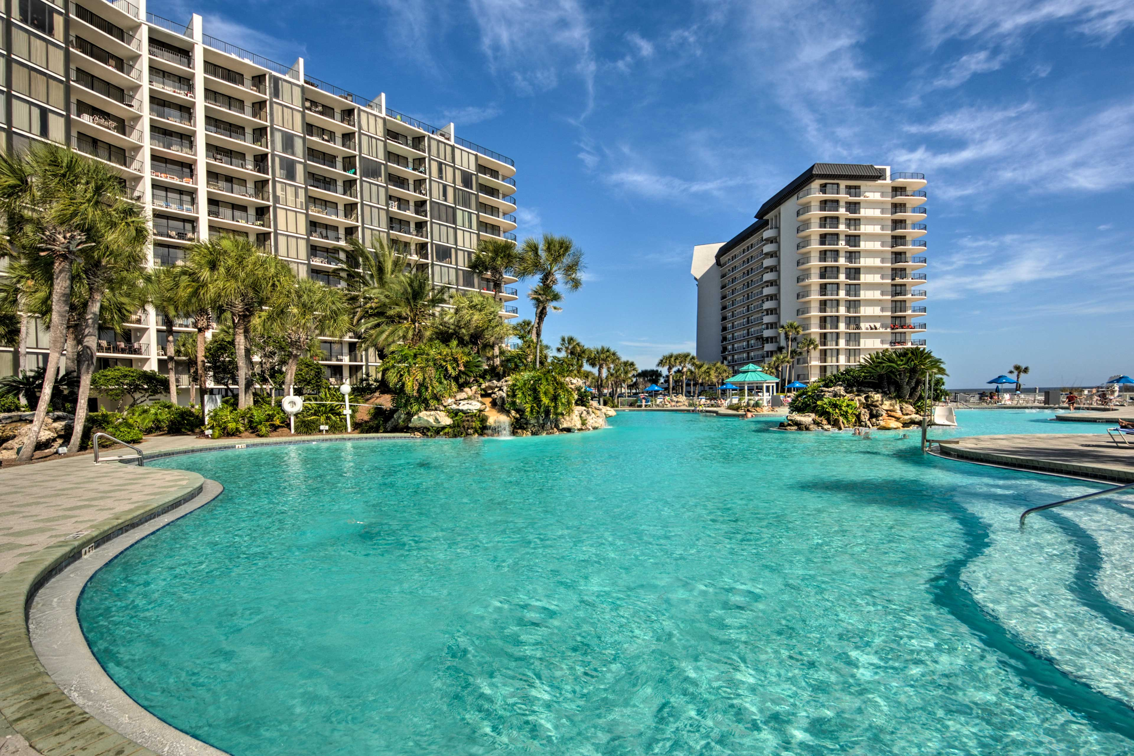 Dive into relaxation in the community pool.