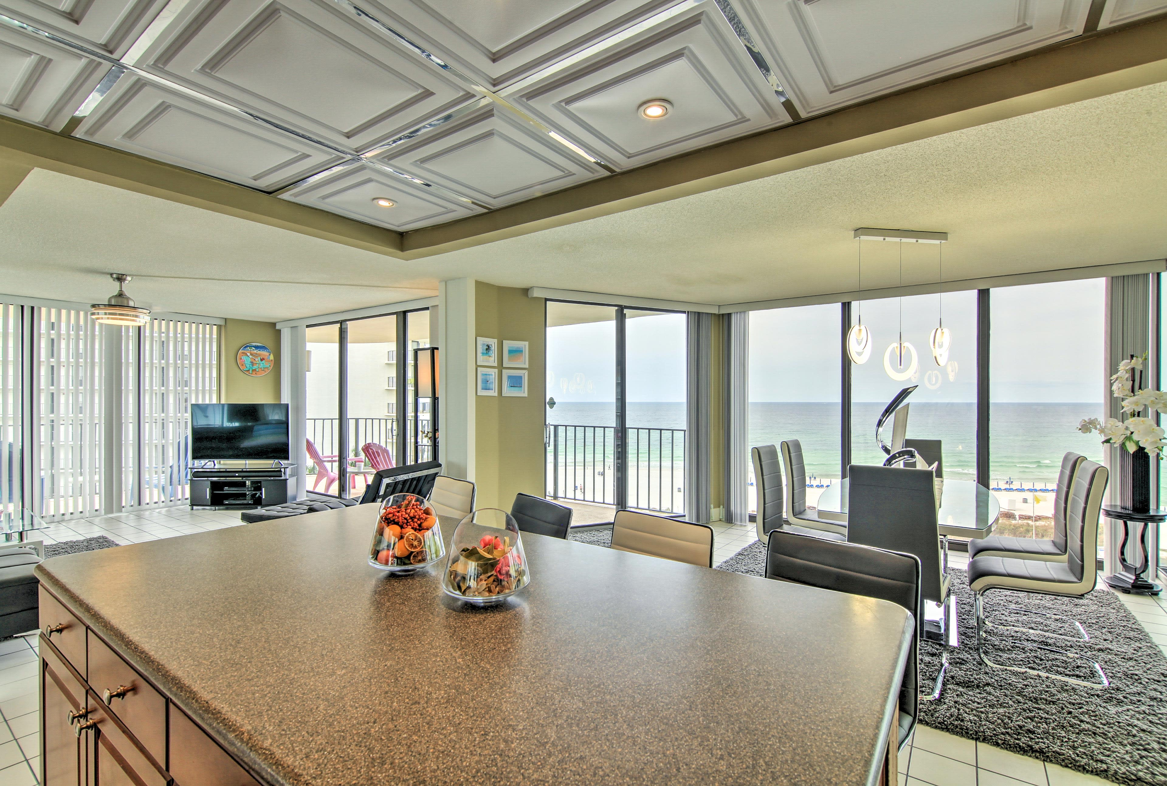 Admire the Gulf views from almost anywhere in the condo!