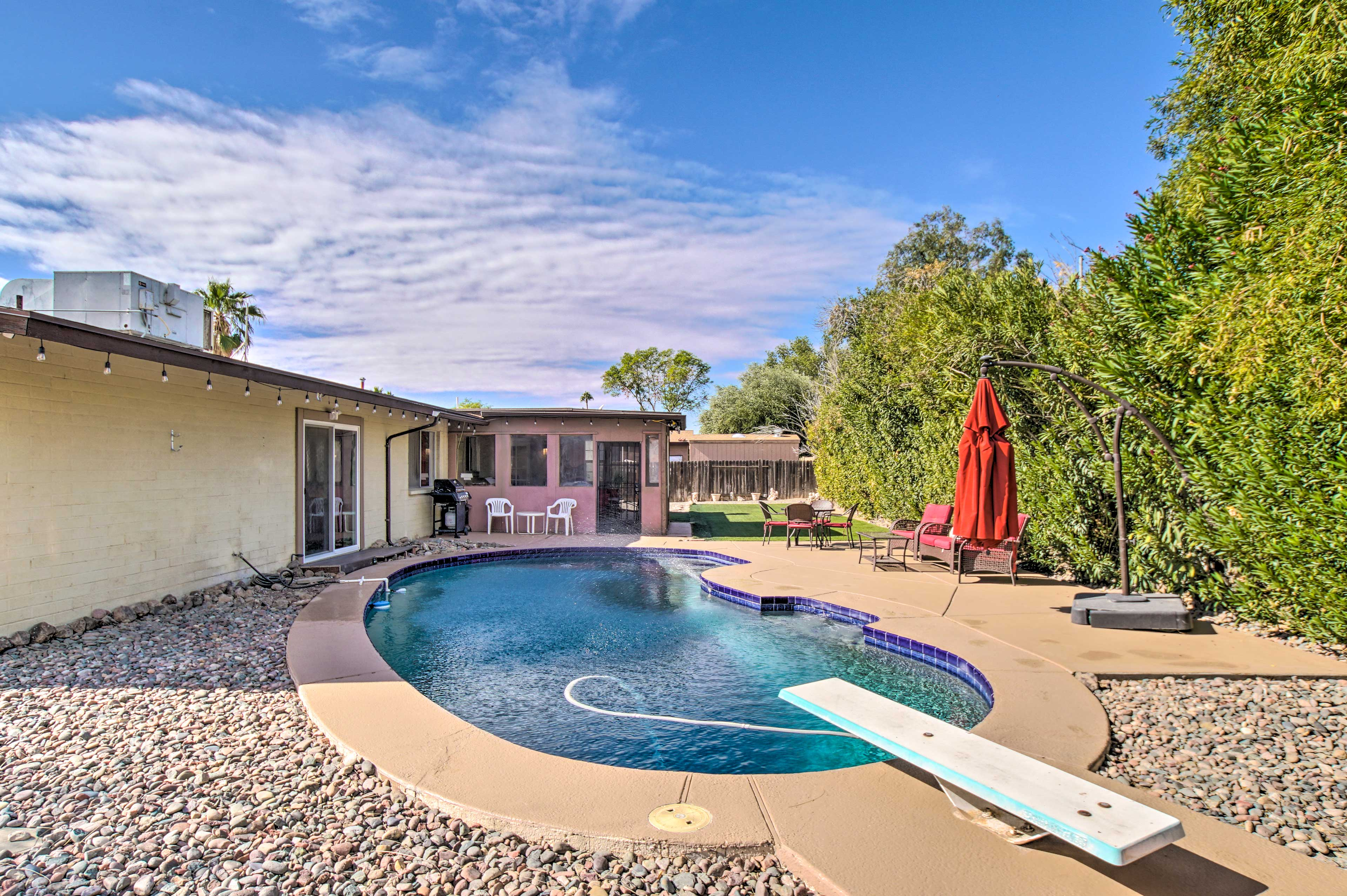 Private Backyard | Unheated Pool | Gas Grill