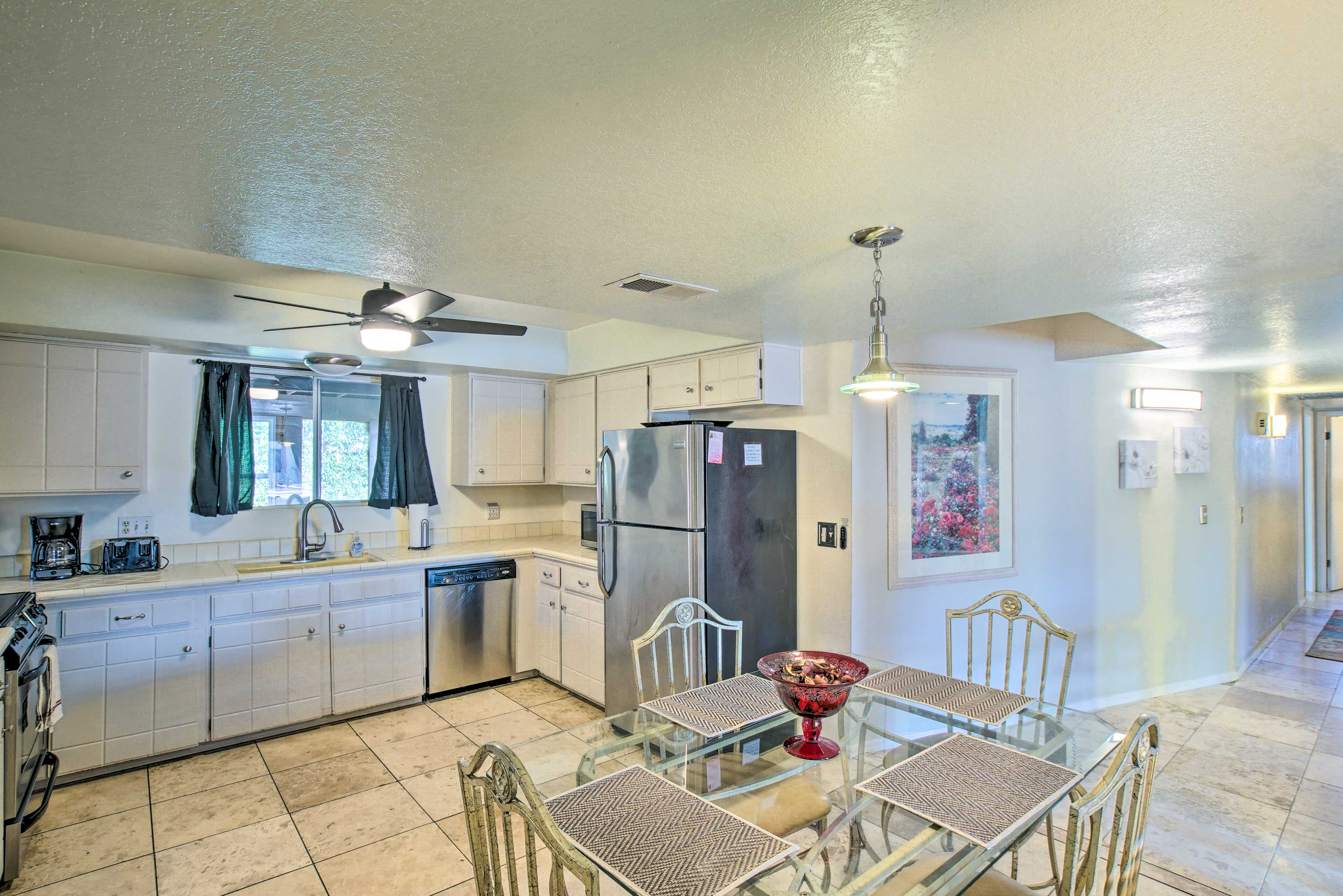Fully Equipped Kitchen | 4-Person Dining Table