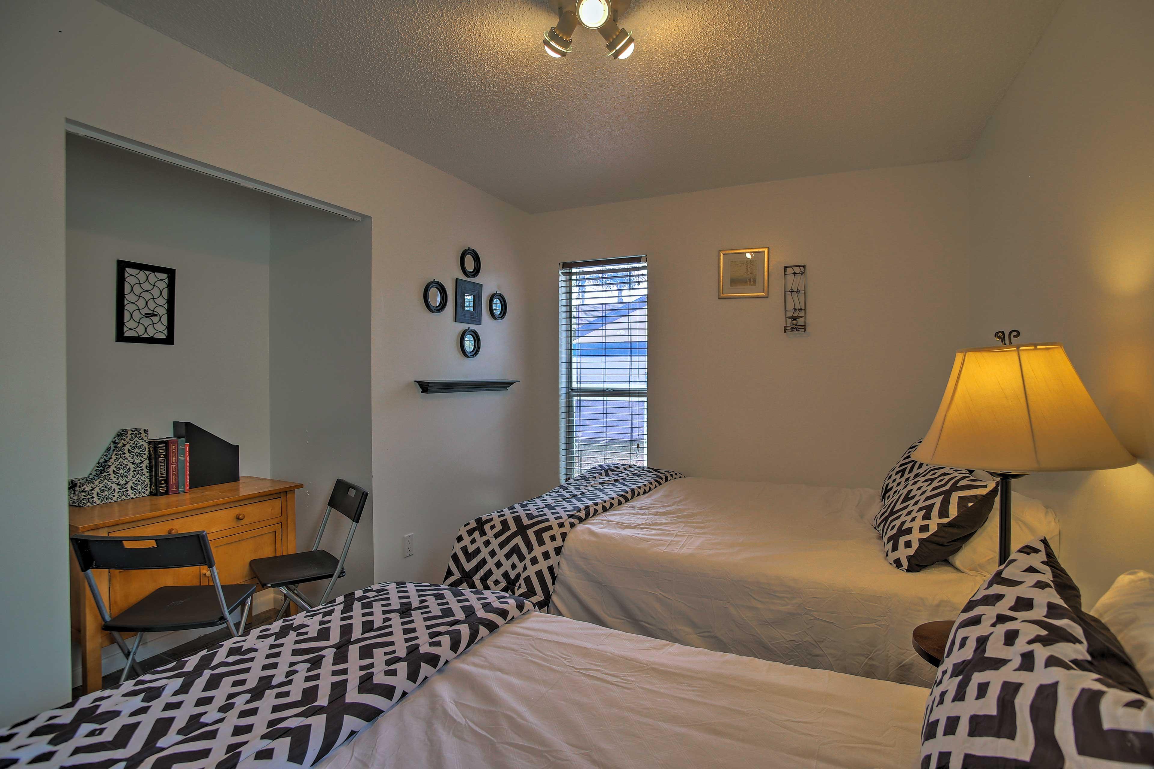 This cozy room sleeps 4 comfortably.