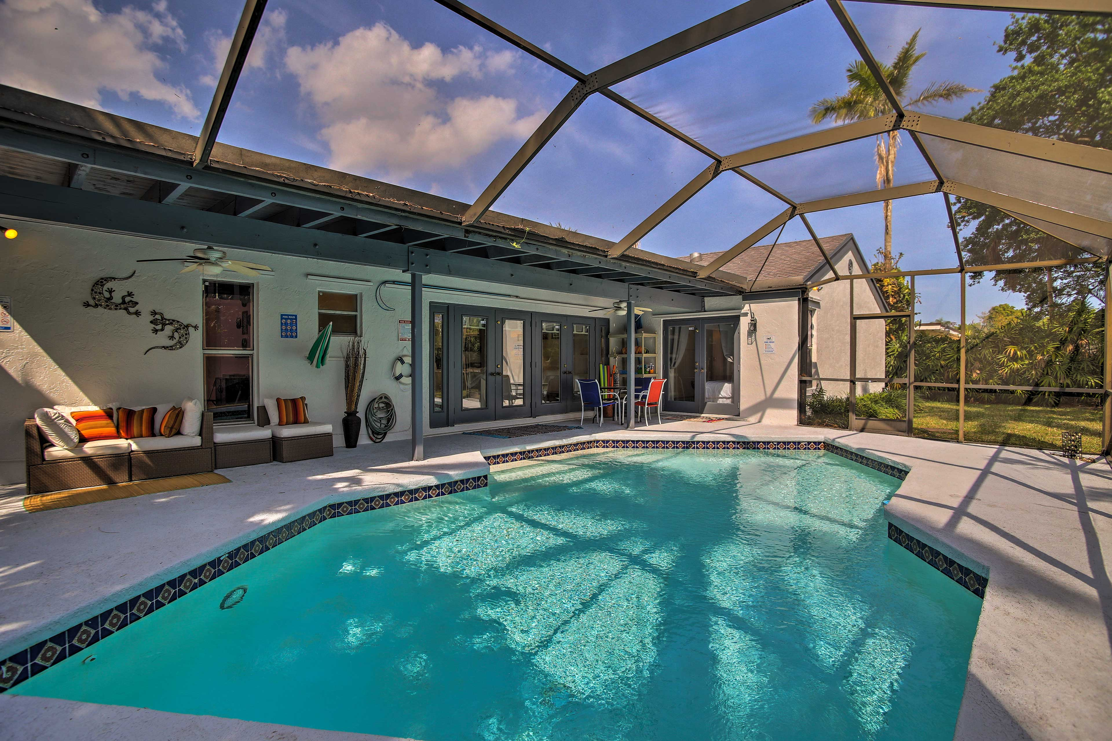 Your private pool will make you feel like royalty.