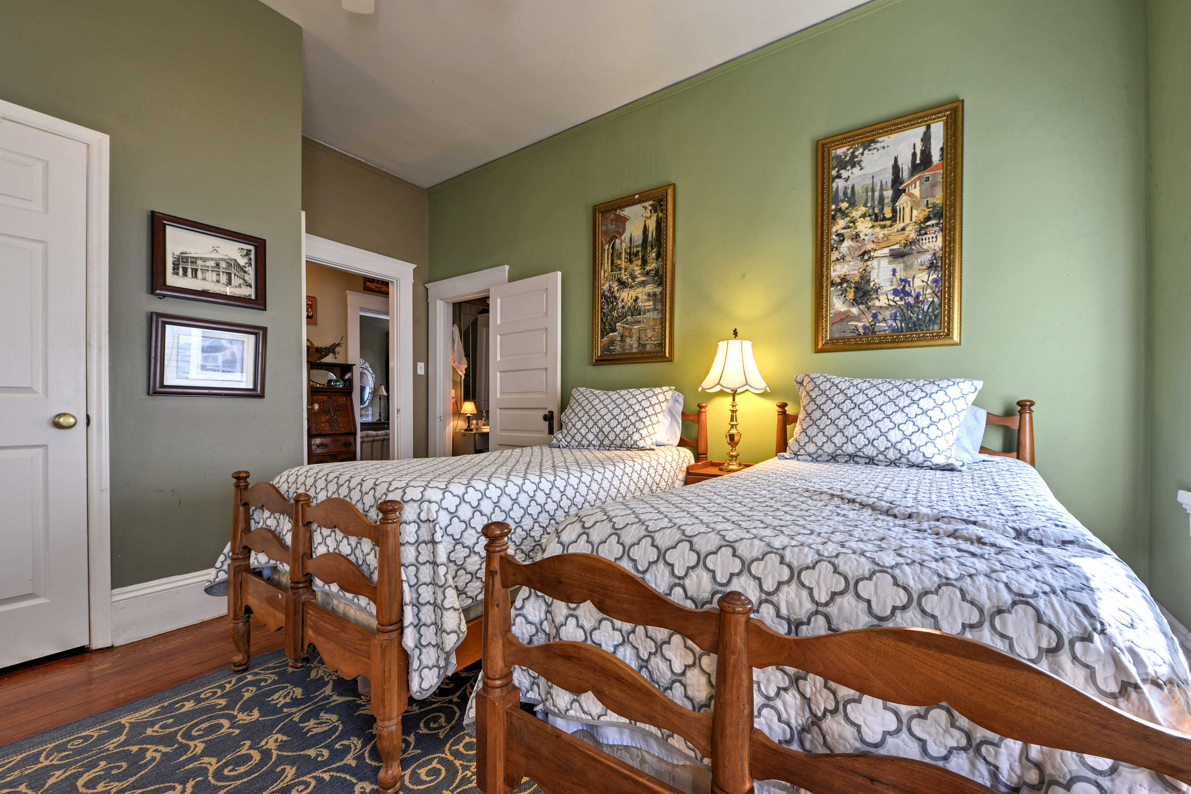With 2 twin beds, this room sleeps 2.