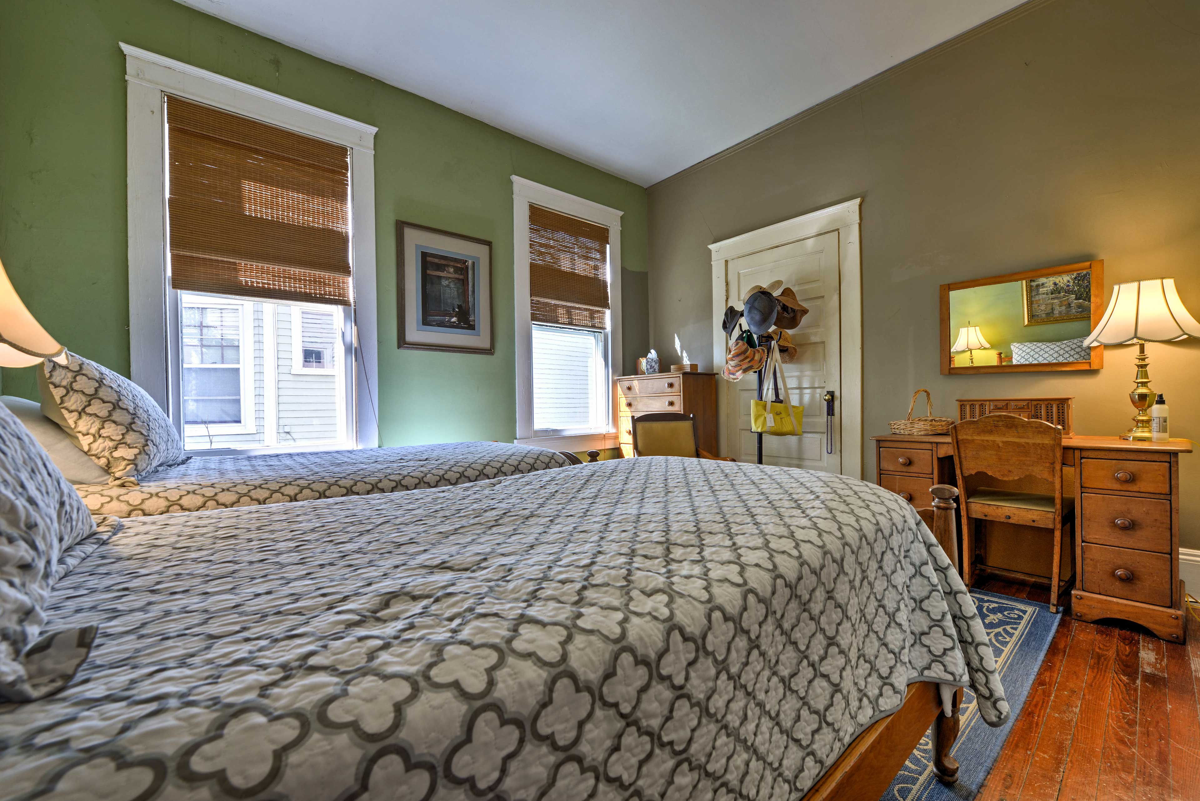 Wake up to natural light brightening the room.