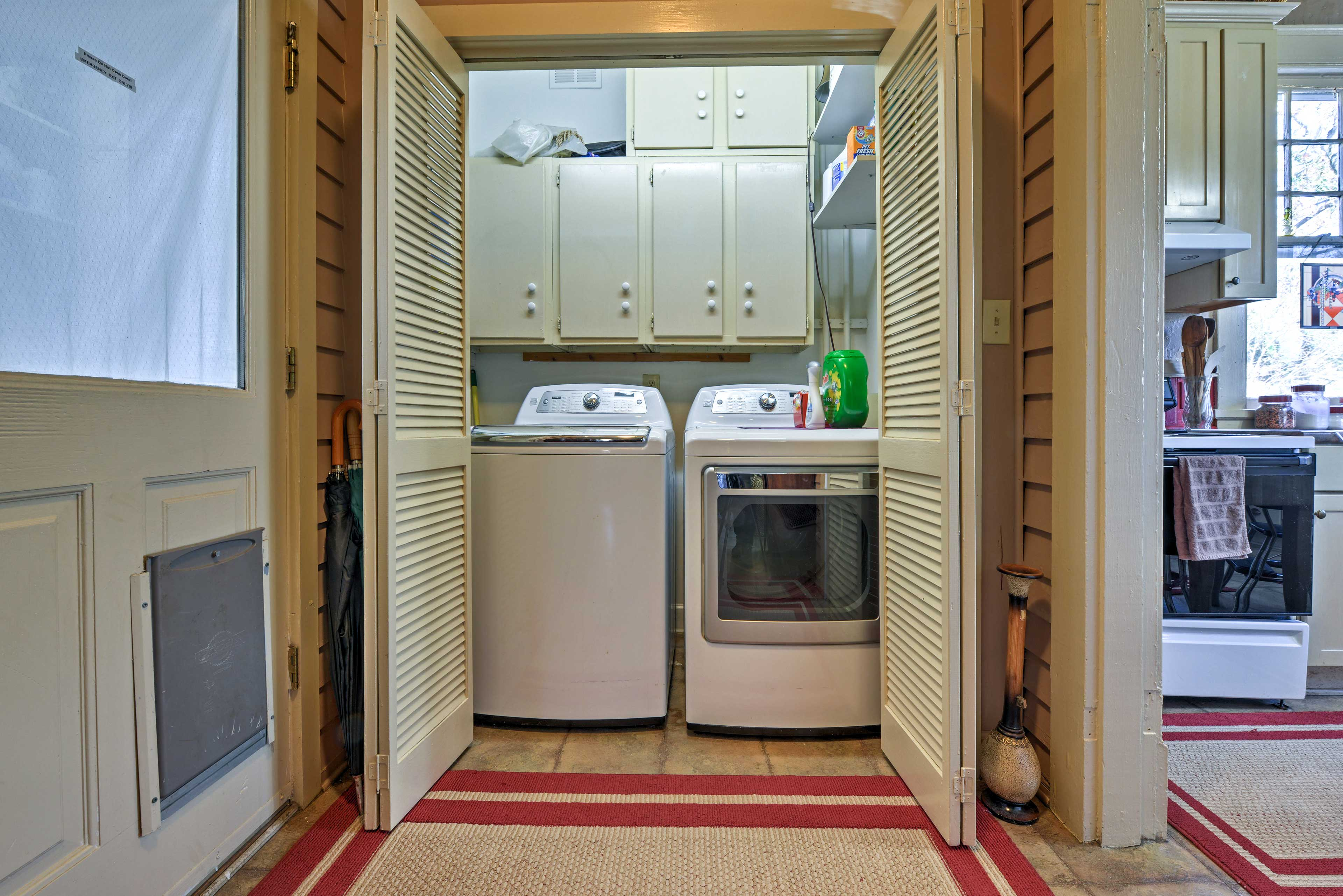 Keep your clothes fresh and clean using the washer and dryer!