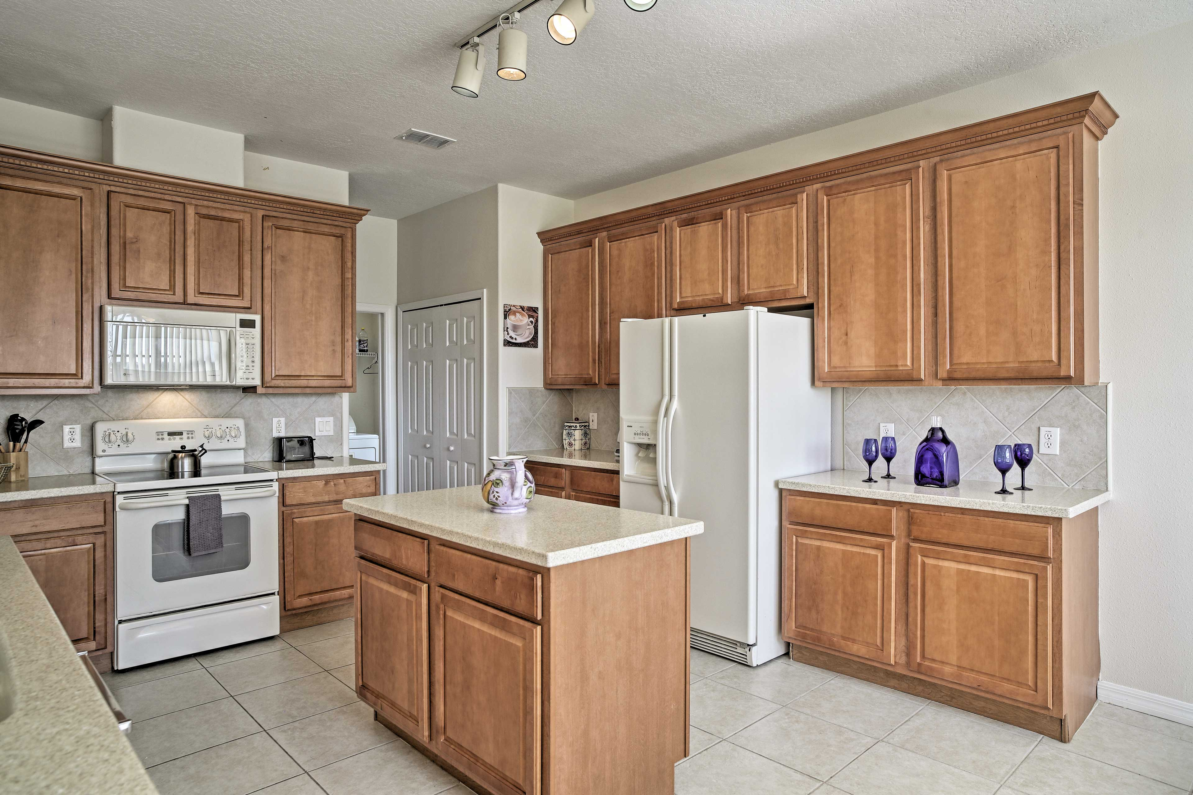 Entertain family and friends in the large kitchen.