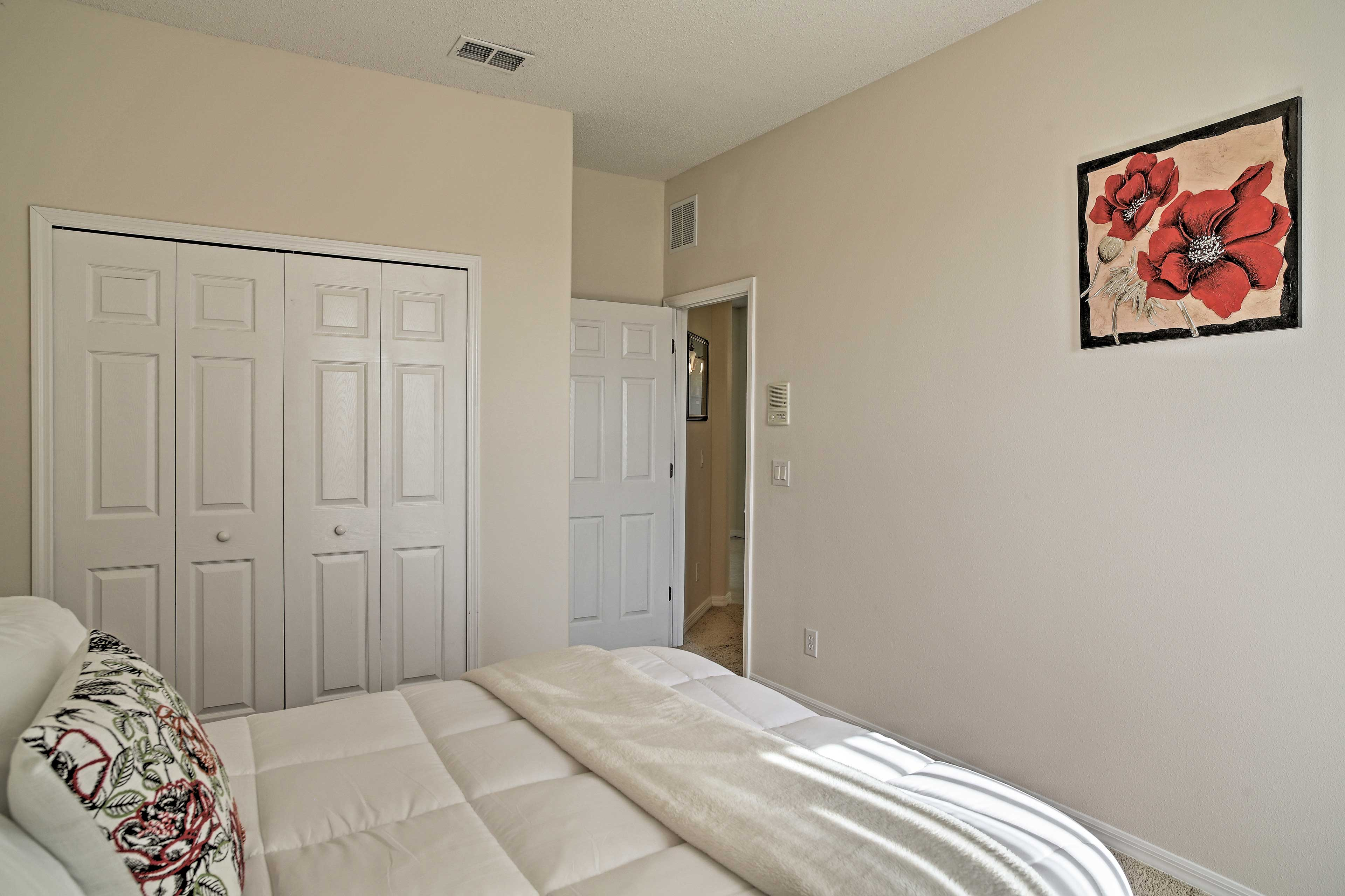 Each of the 4 guest bedrooms can sleep 2 each.